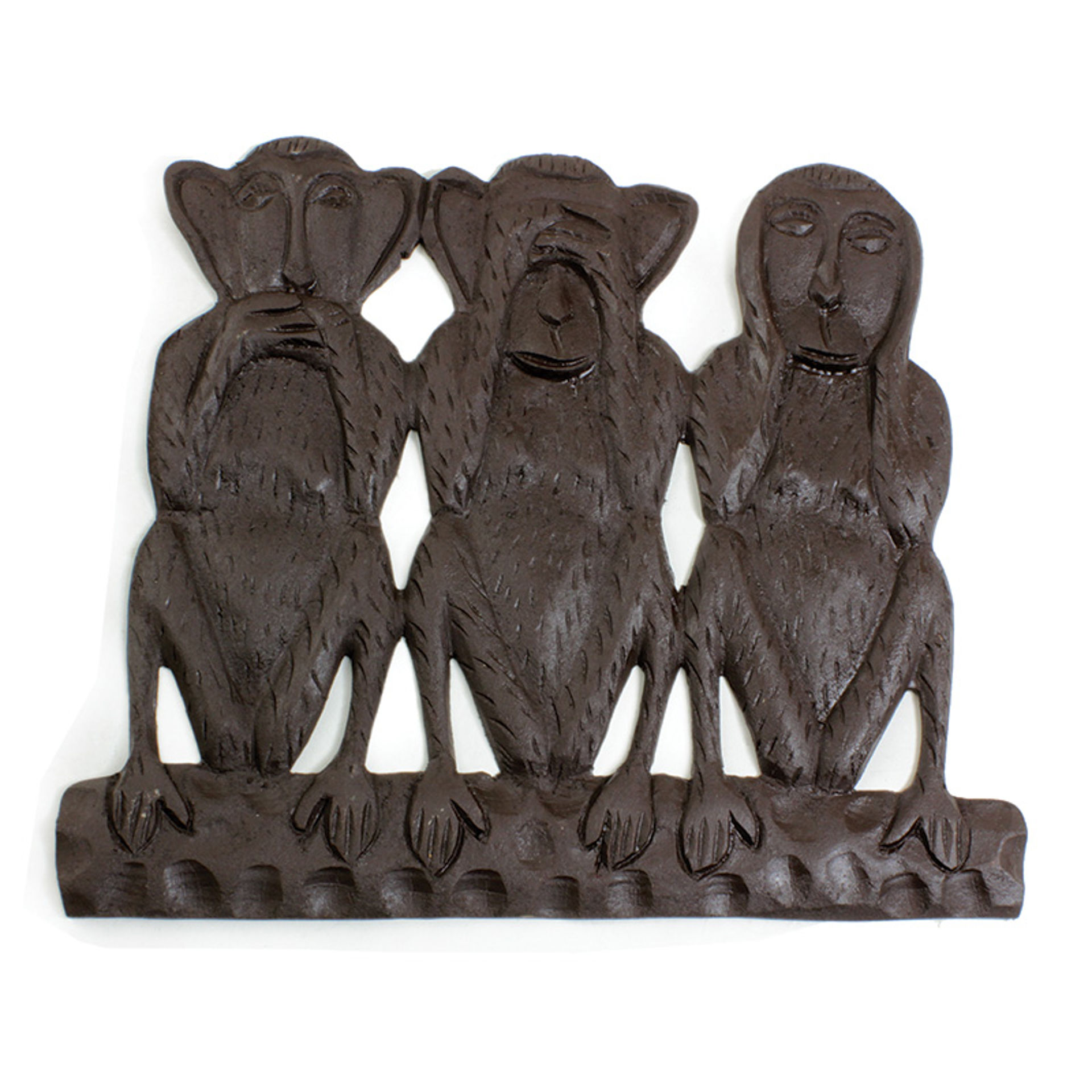 "Picture of ""No Evil"" Monkey Wood Plaque"