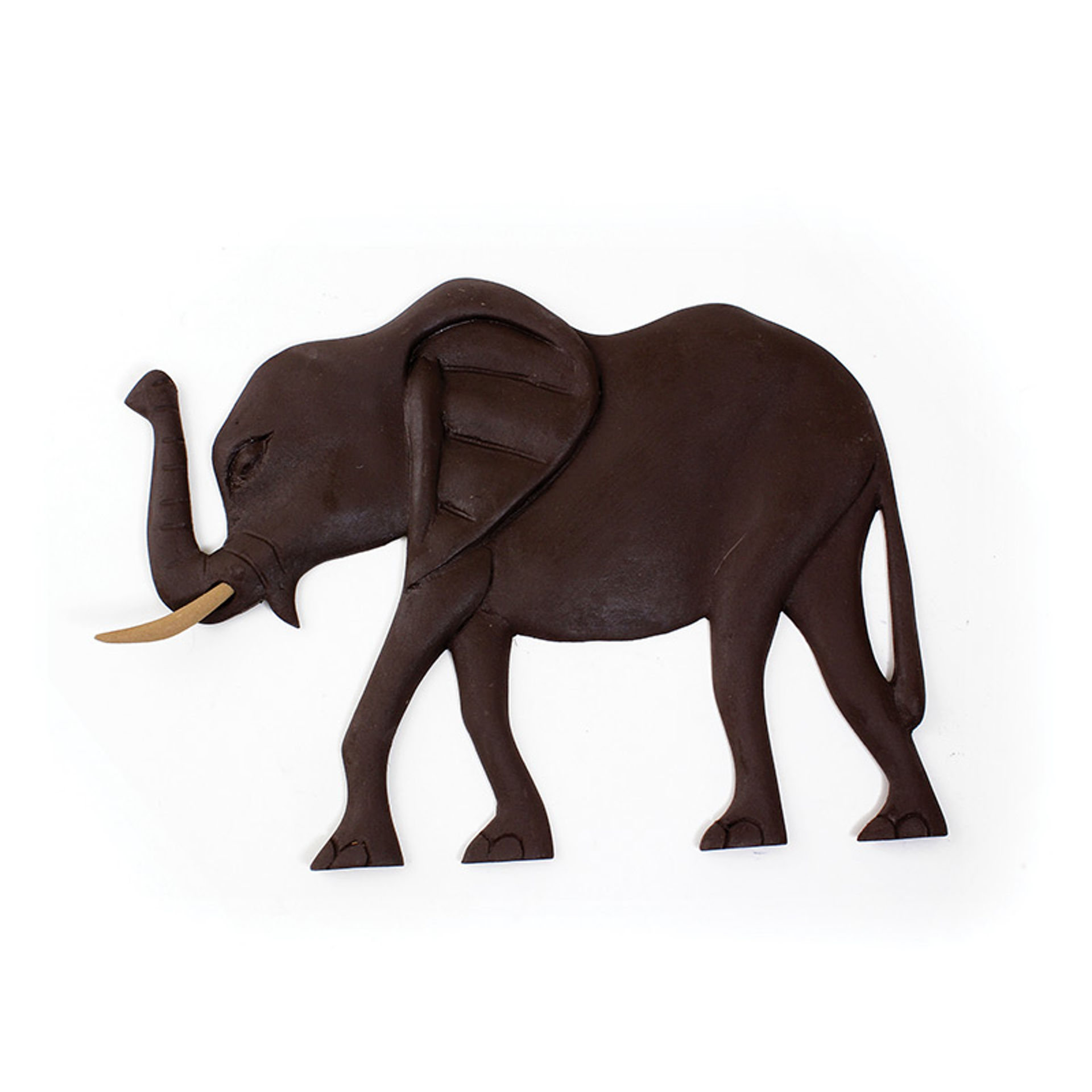 Picture of Elephant Wood Plaque