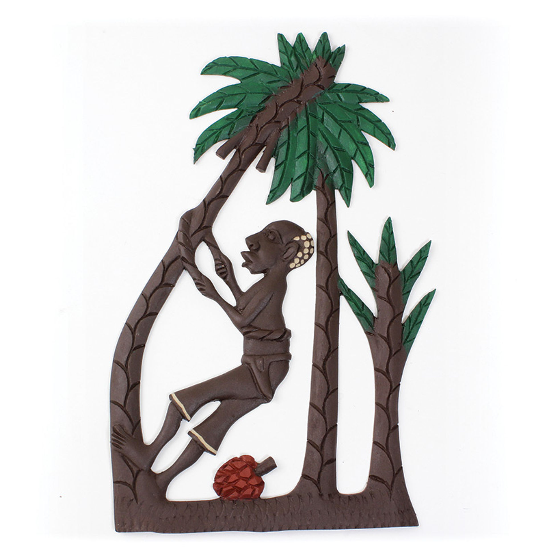 Picture of African Tree Climber Wood Plaque