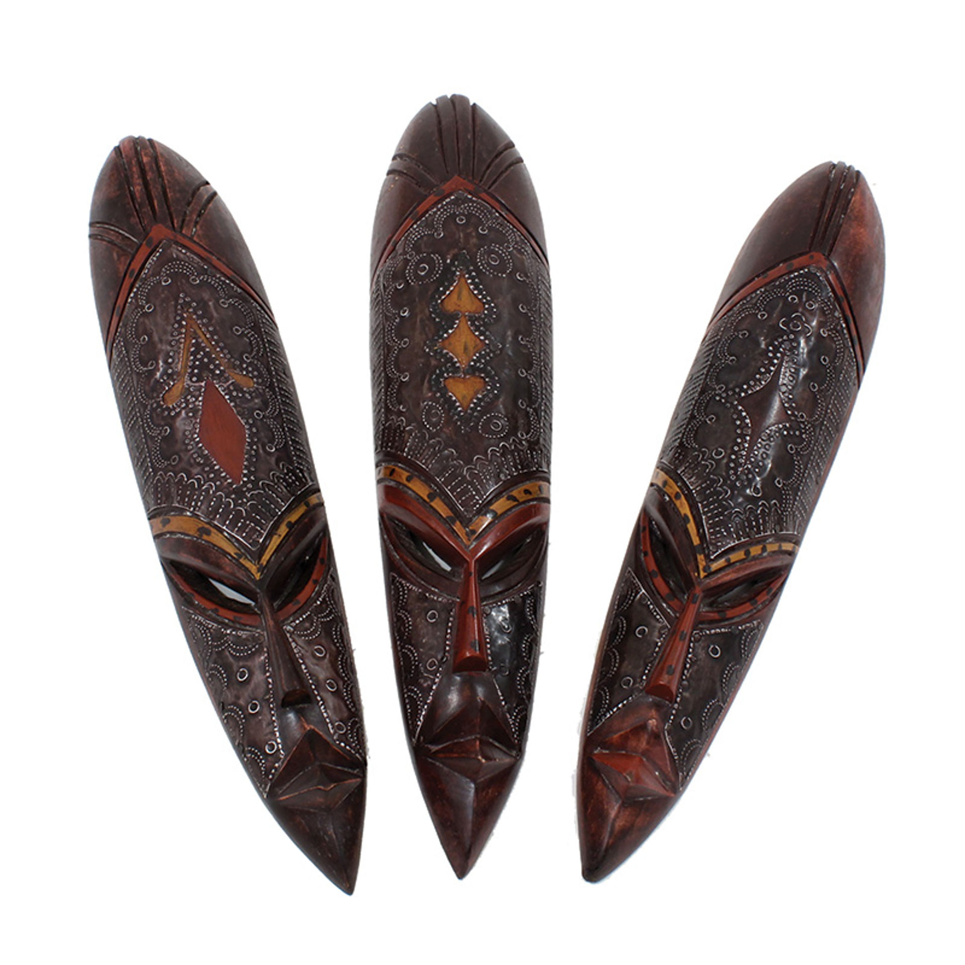 Picture of Medium Ghana Fang Mask - Metal/Wood