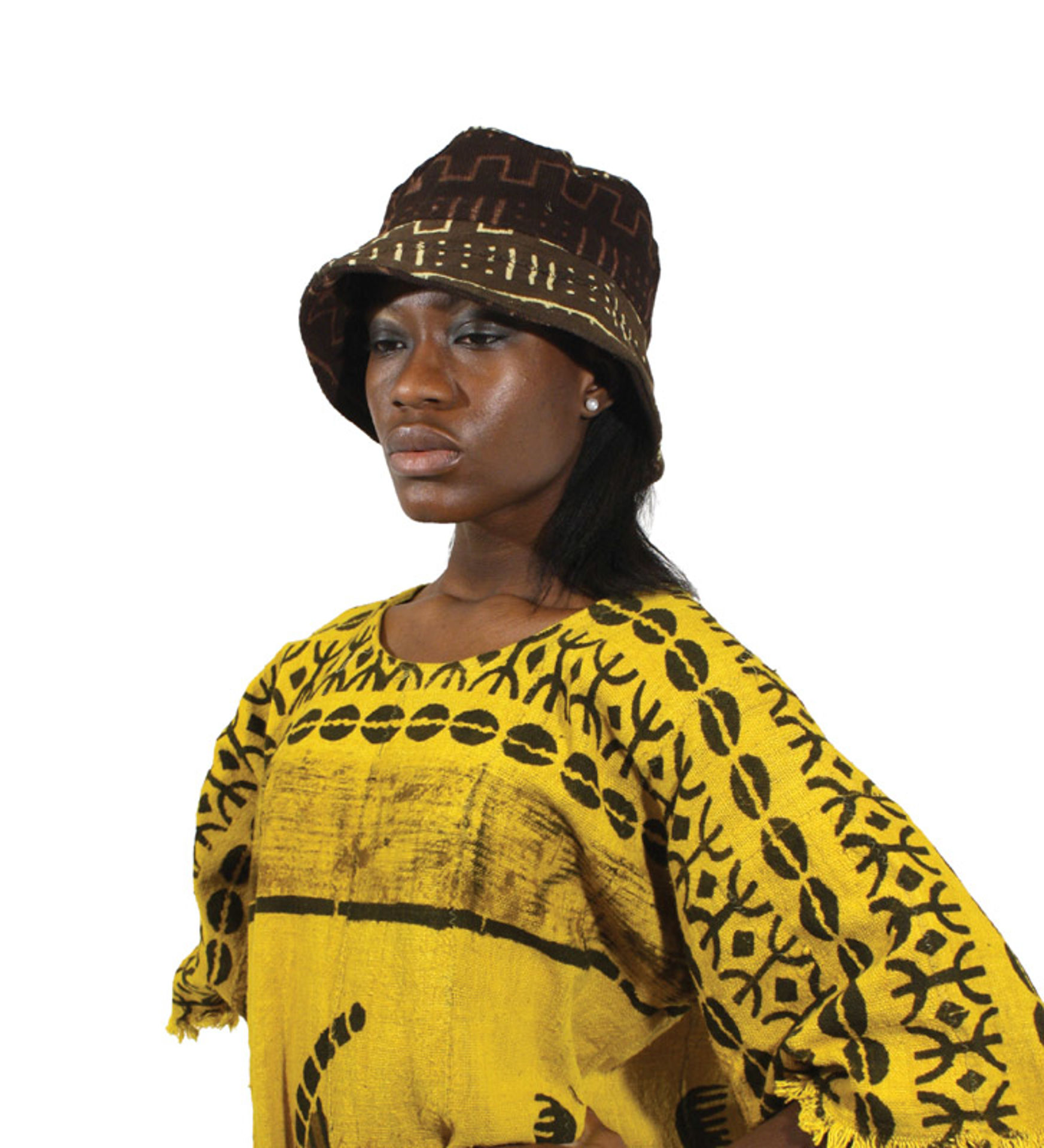 Picture of Mud Cloth Brim Hats