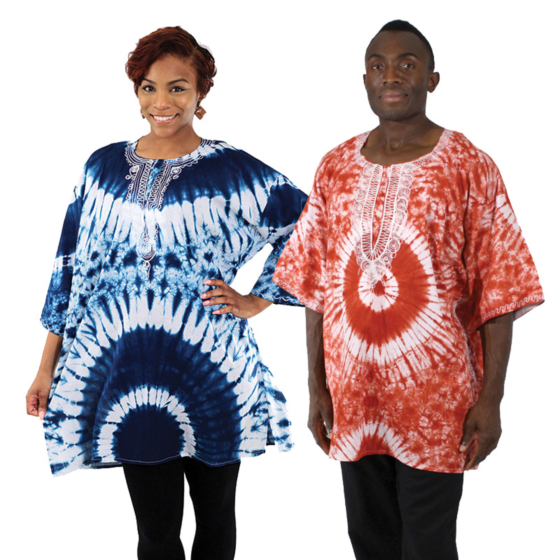 Picture of Embroidered Tie-Dye Dashiki