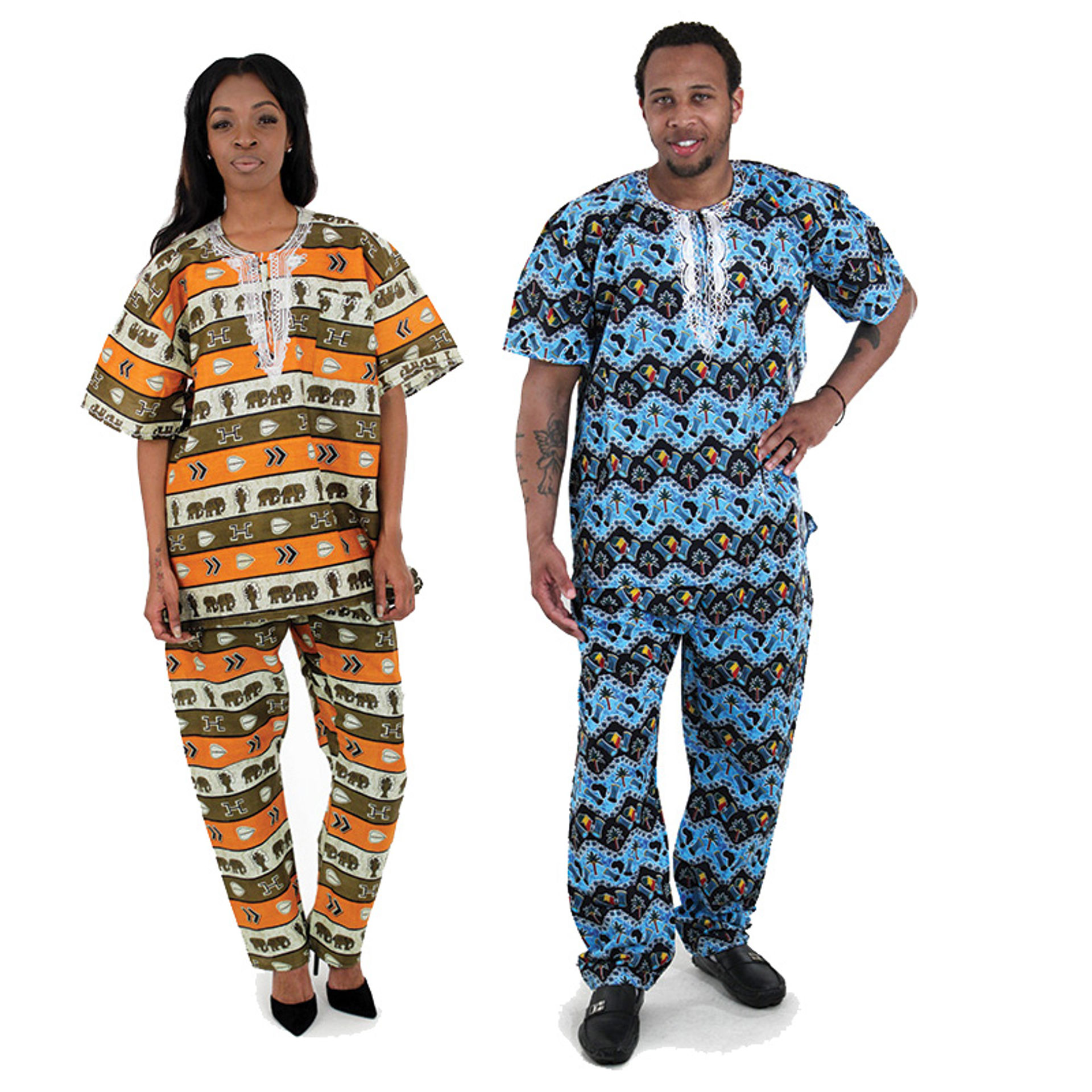 Picture of African Print Dashiki & Pants