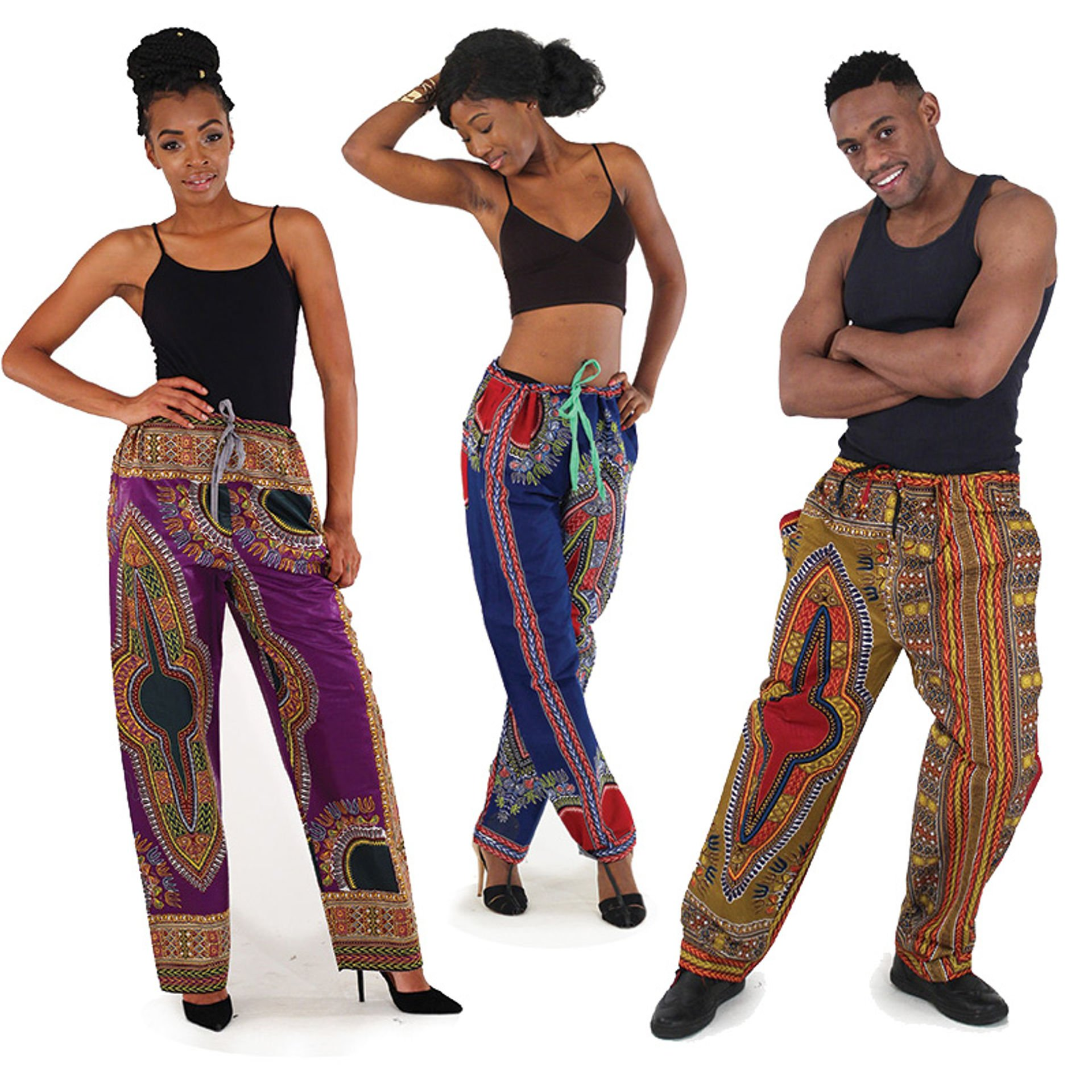 Picture of Traditional Print Draw-String Pants