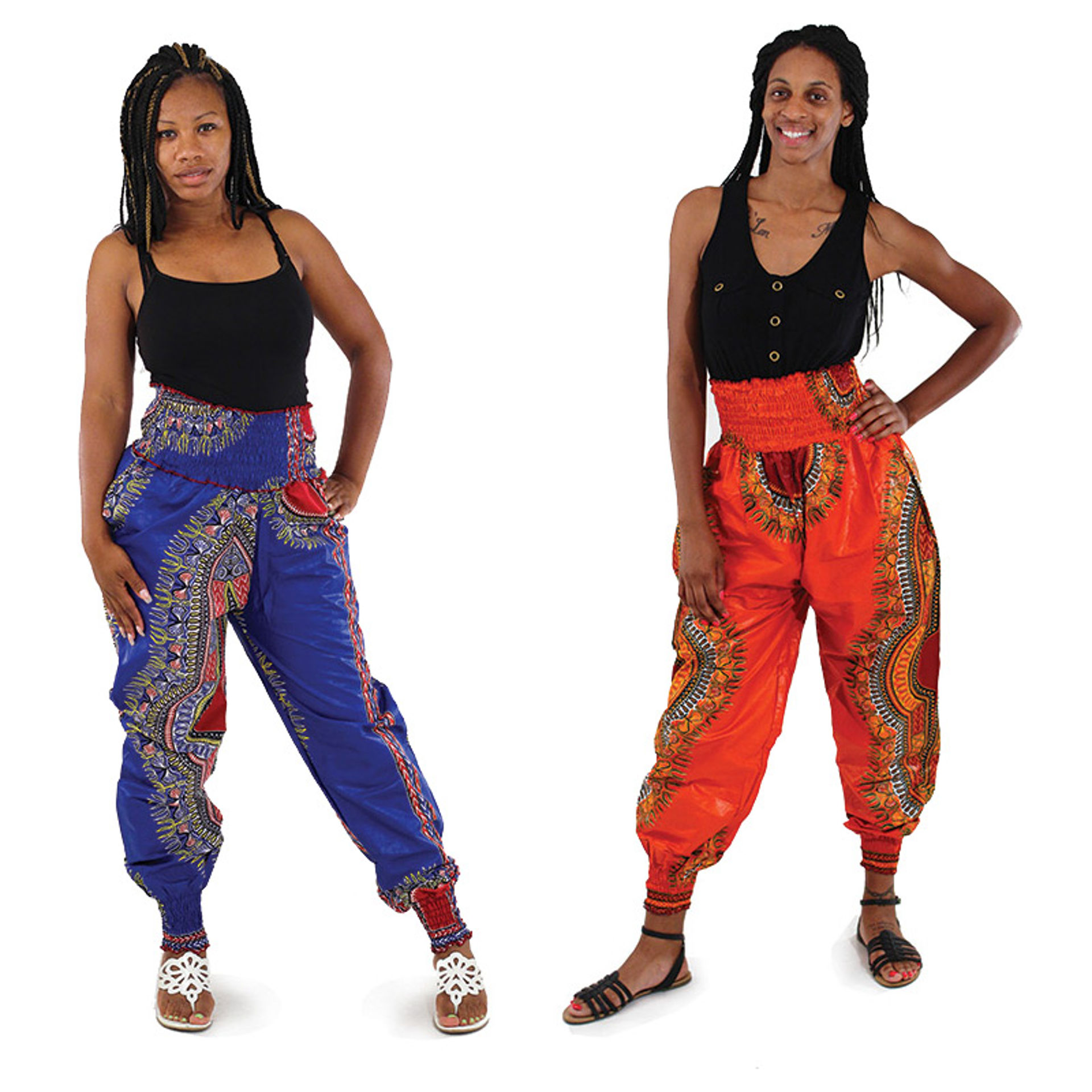Picture of Traditional Print Harem Pants