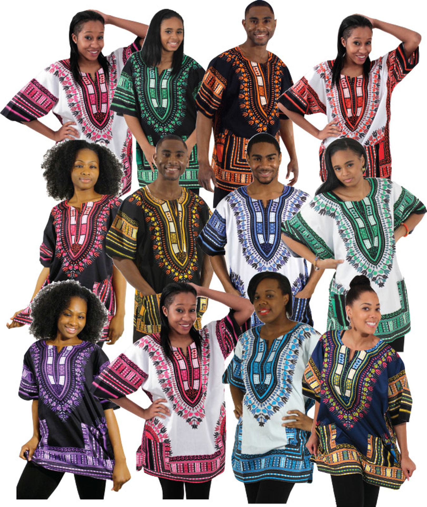 Picture of Set Of 12 Traditional Thailand Dashikis
