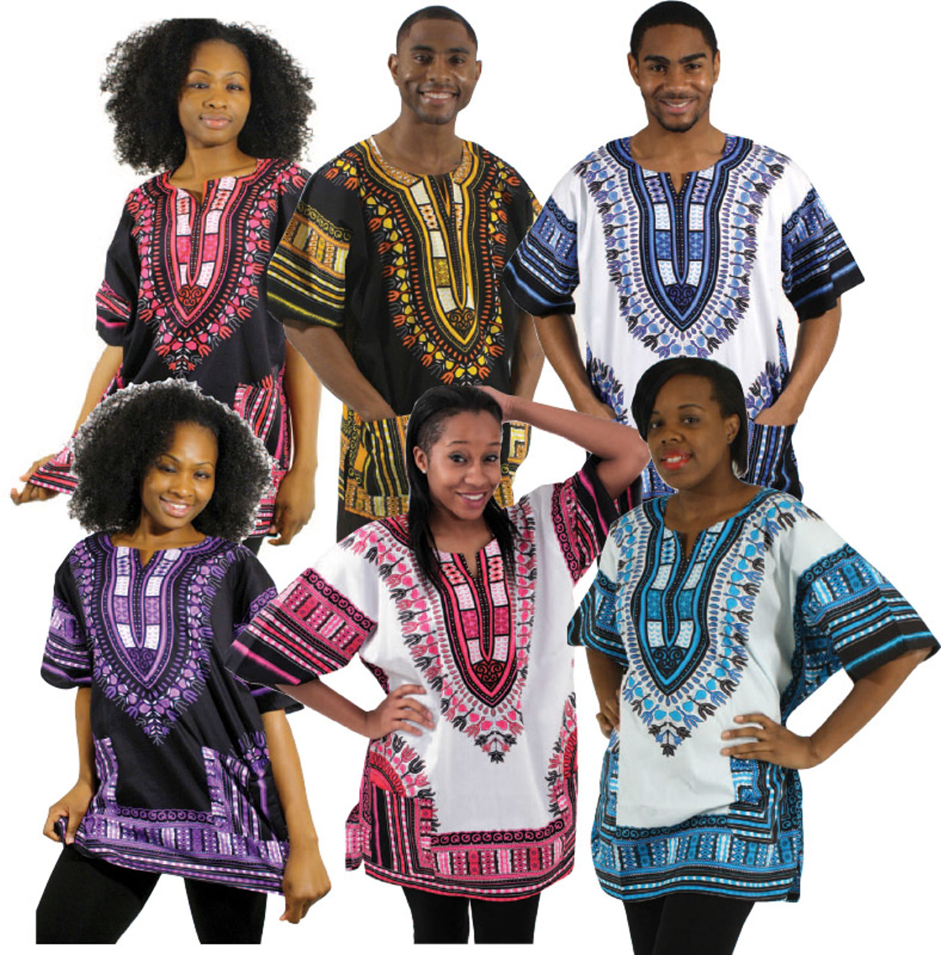 Picture of Set Of 6 Traditional Thailand Dashikis