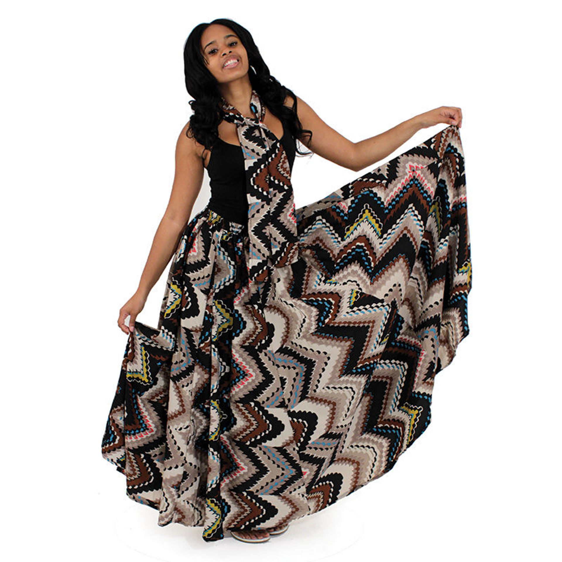 Picture of African Print Flared Skirt