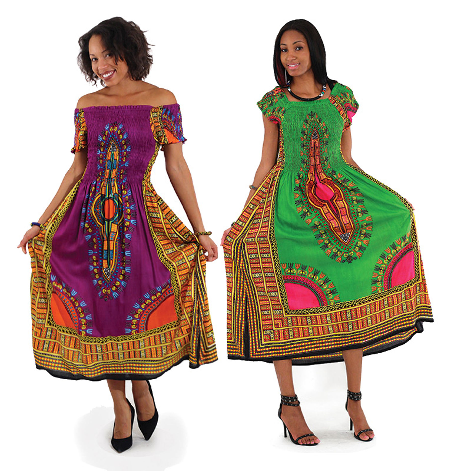 Picture of Traditional Print Elegance Dress