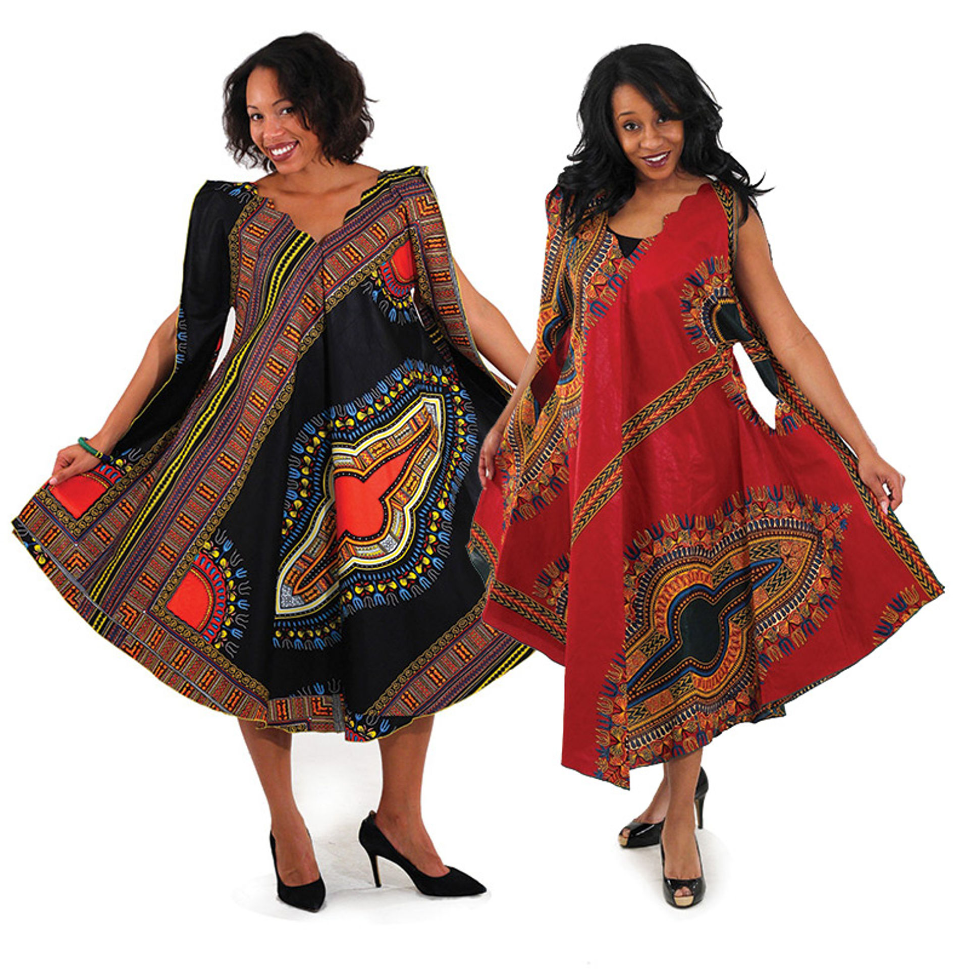 Picture of Traditional Print Umbrella Dress