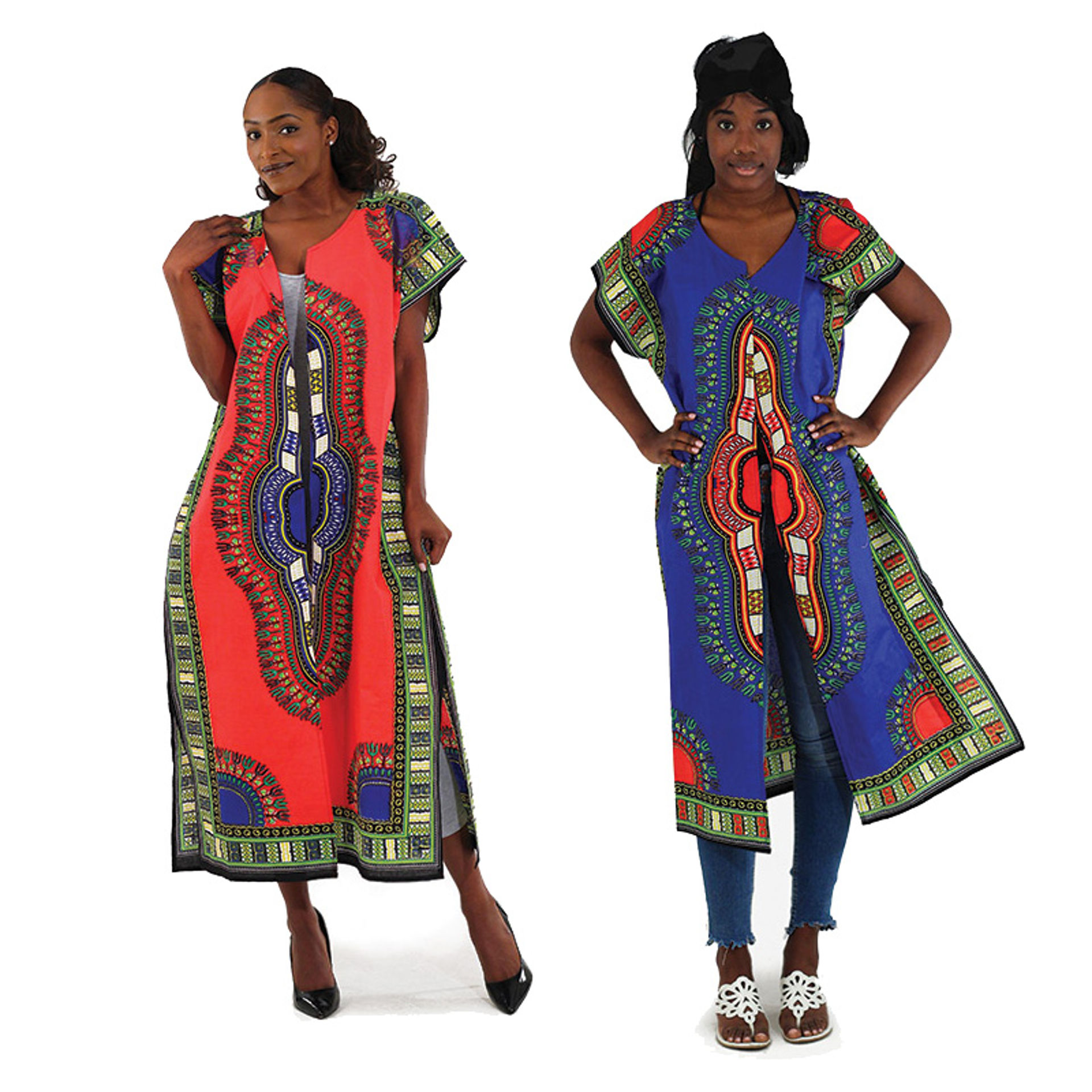 Picture of Traditional Print Open Kaftan
