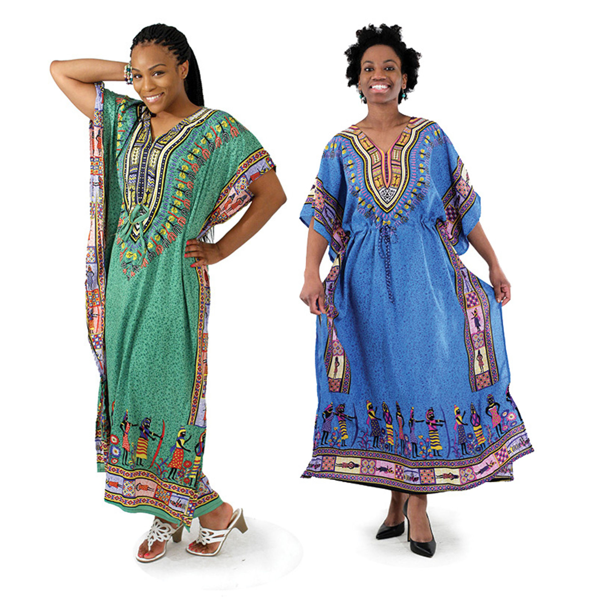 Picture of Traditional Print Draw-String Kaftan
