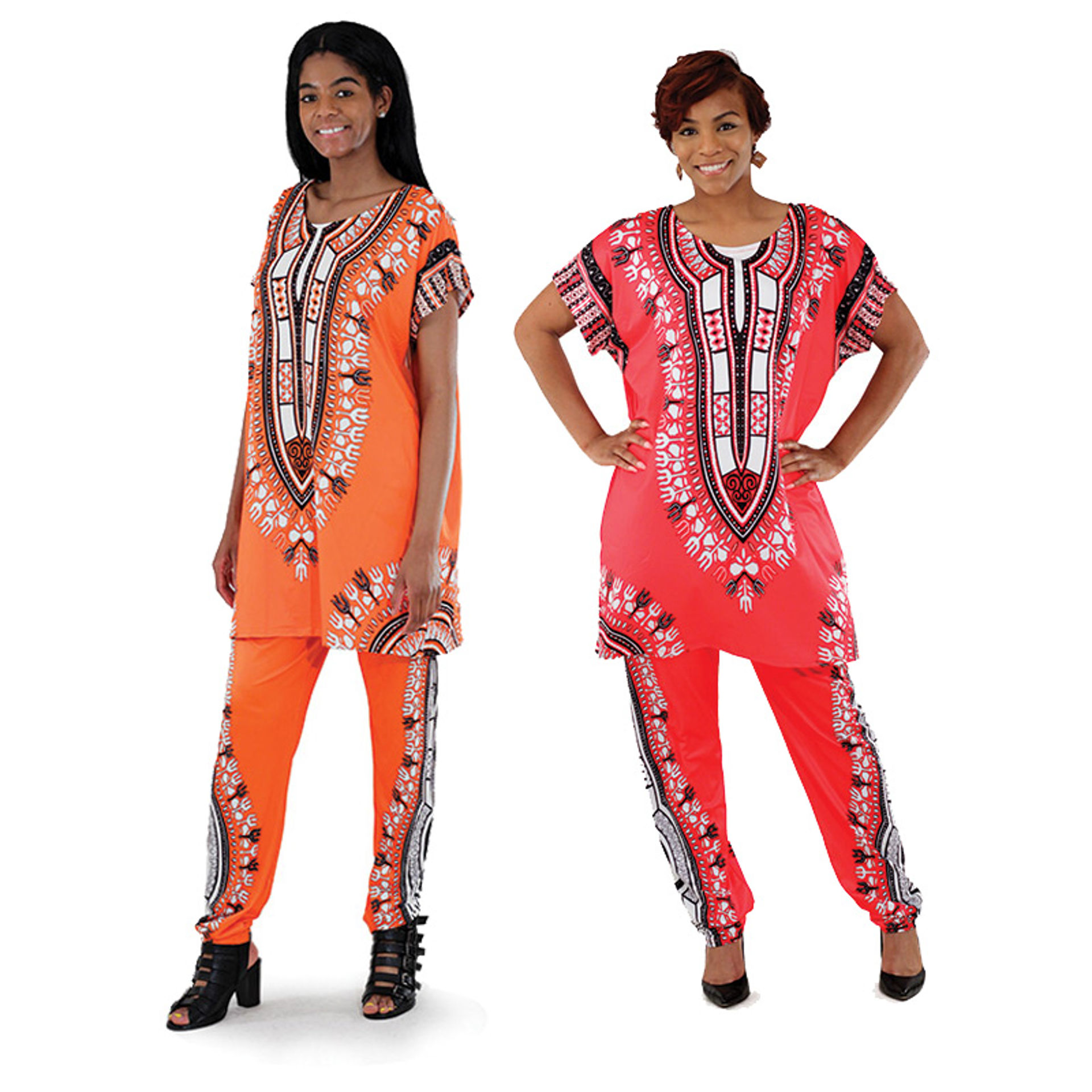 Picture of Plus-Sized Traditional Print Pant Set