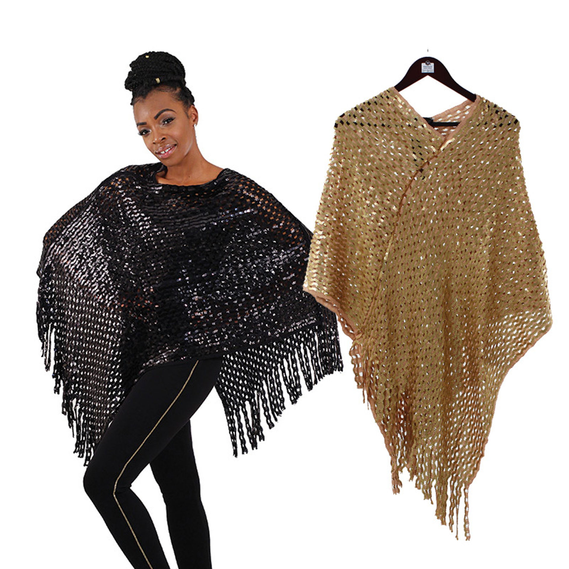 Picture of Sequined Knit Poncho