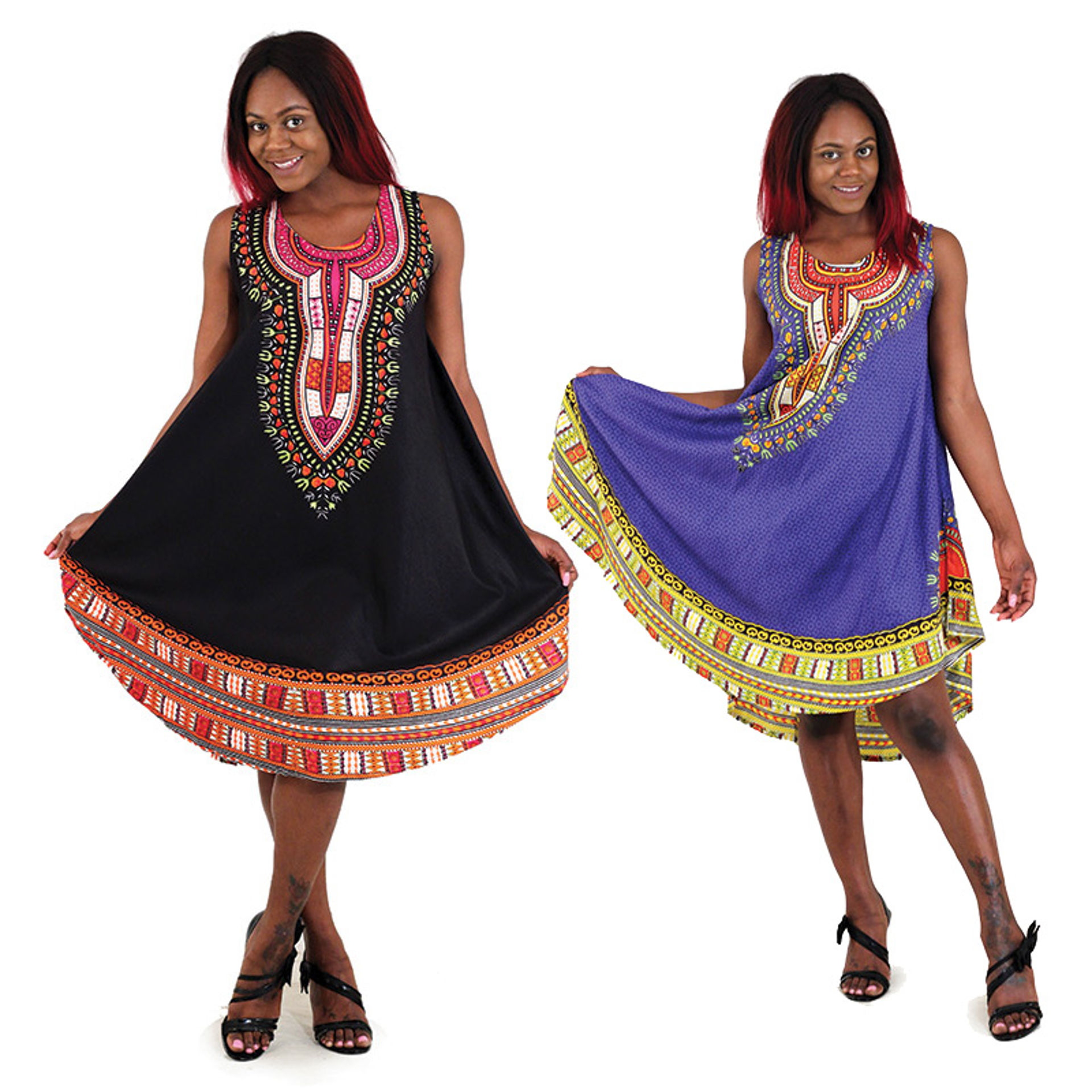 Picture of Traditional Print Umbrella Sundress