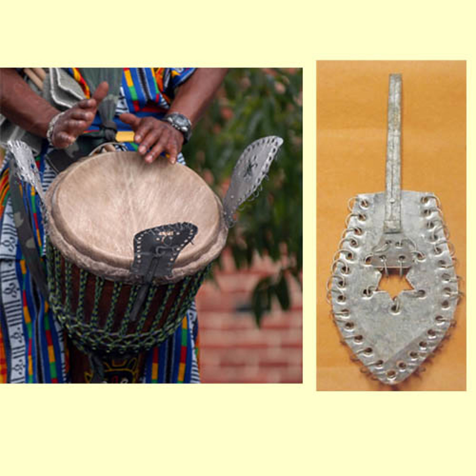 Picture of Djembe Drum Shakers Tsink-Tsink