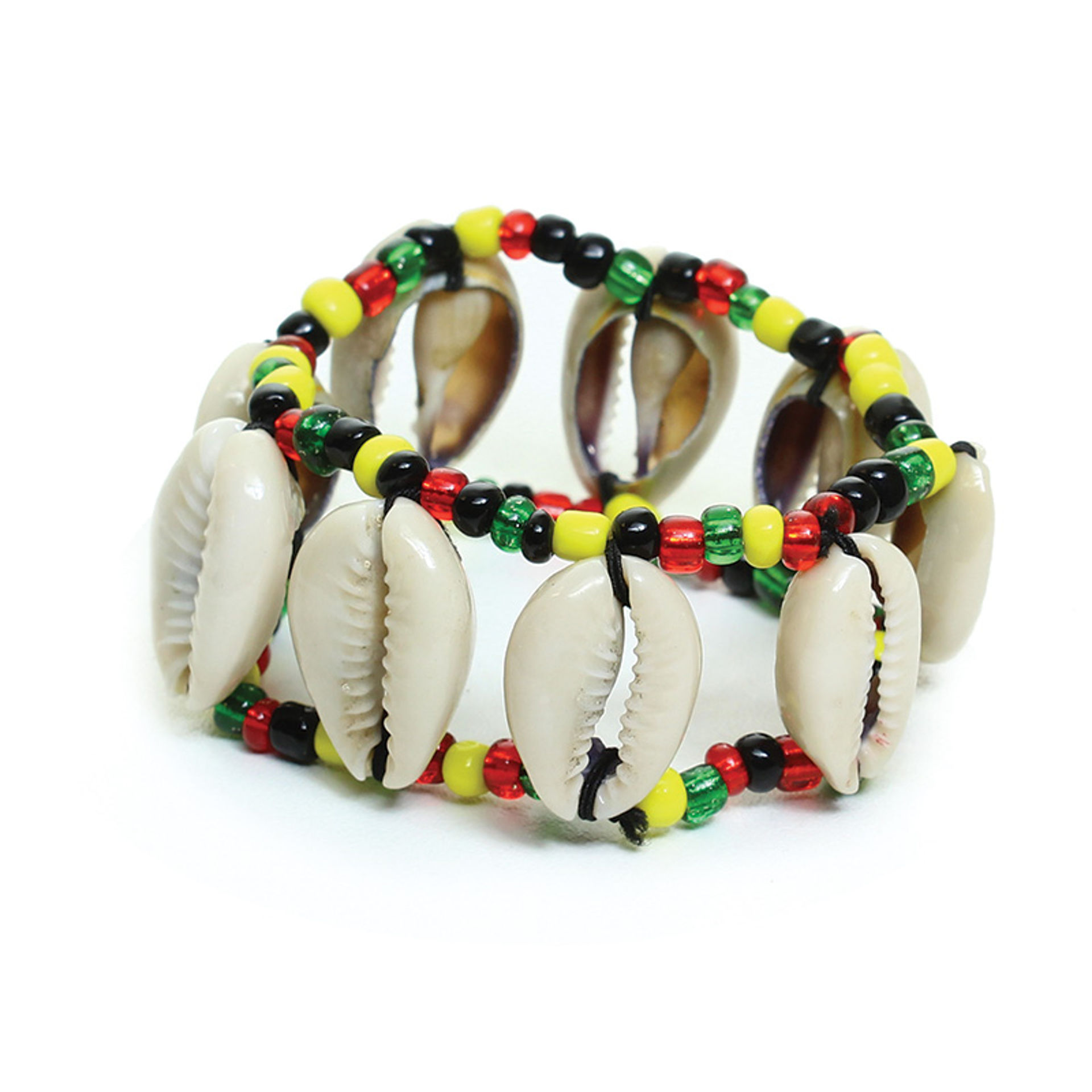 Picture of Cowrie Shell Bracelet: Rasta