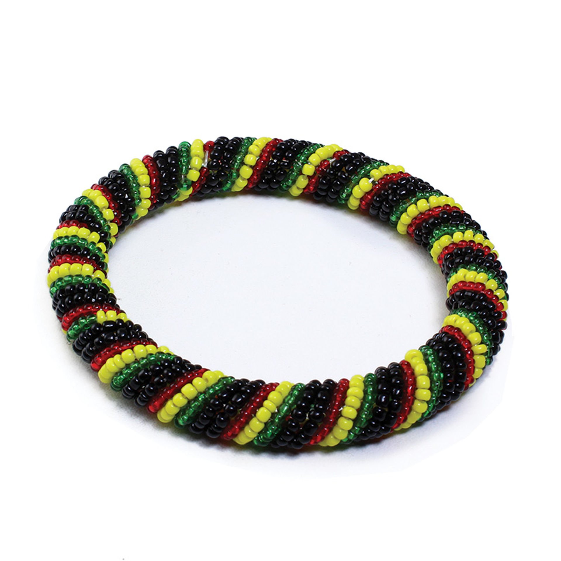 Picture of Maasai Beaded Bracelet - Round Rasta