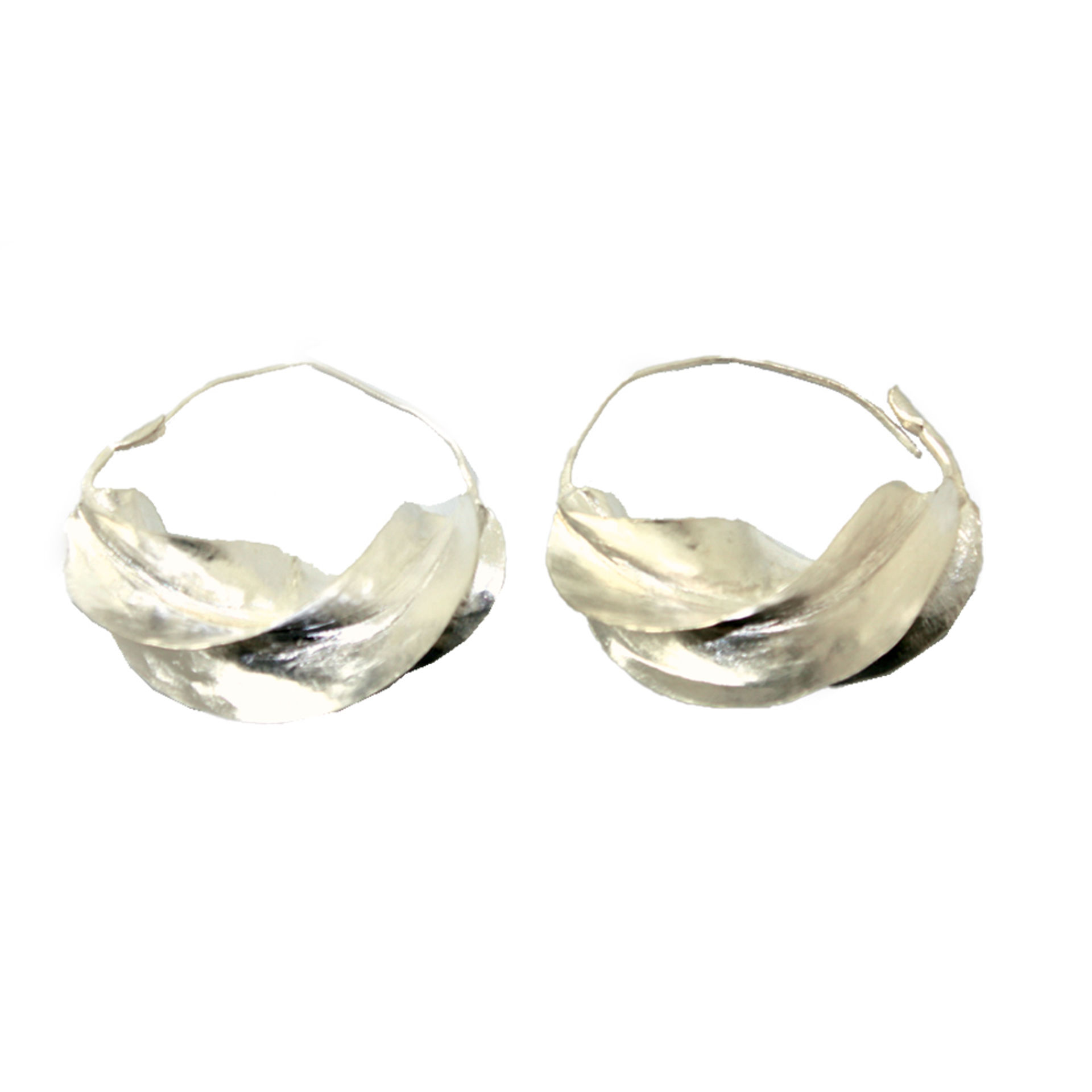 """Picture of XXX-Large Fula Silver Earrings - 2¼"""""""