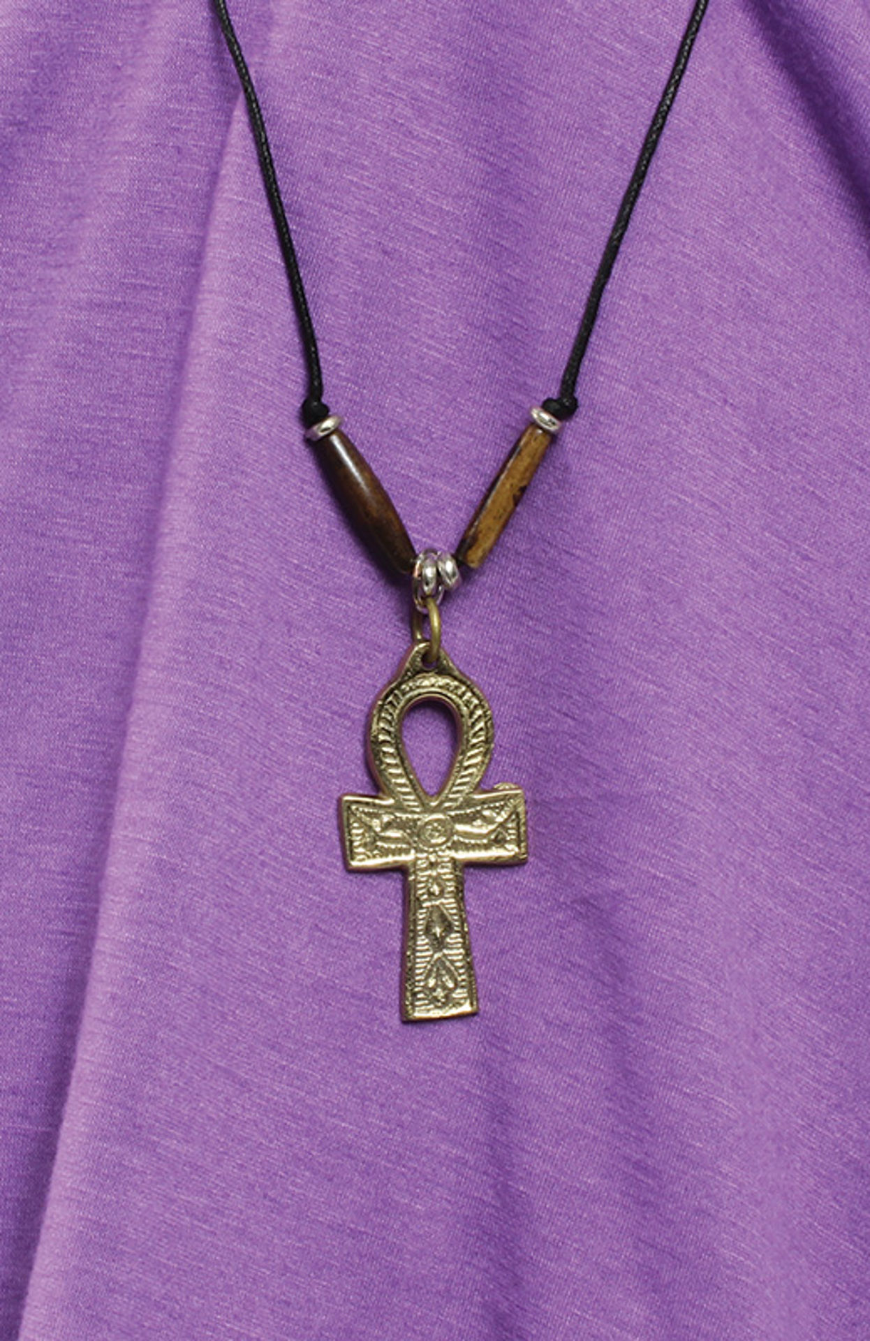 "Picture of Gold Ankh Necklace: Medium (2"")"