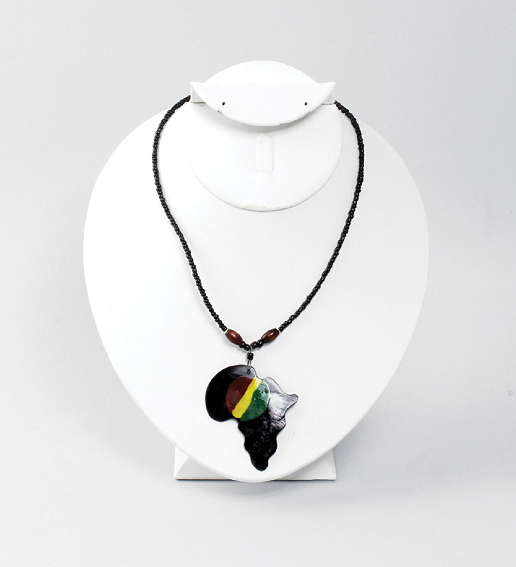 Picture of Africa Pendant Necklace: Black Rasta