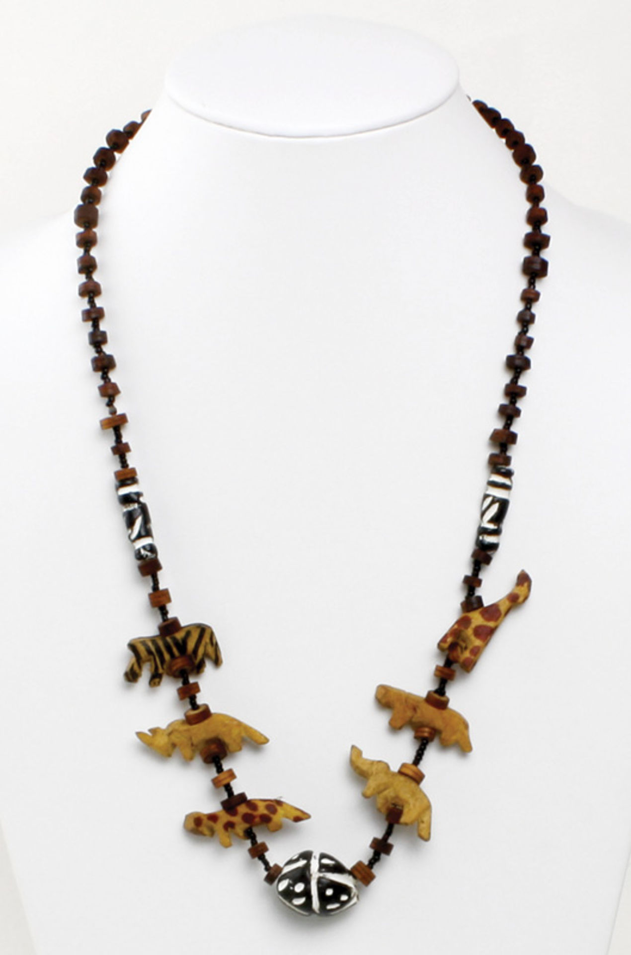 Picture of Animal Wood Necklace - Coconut Beads