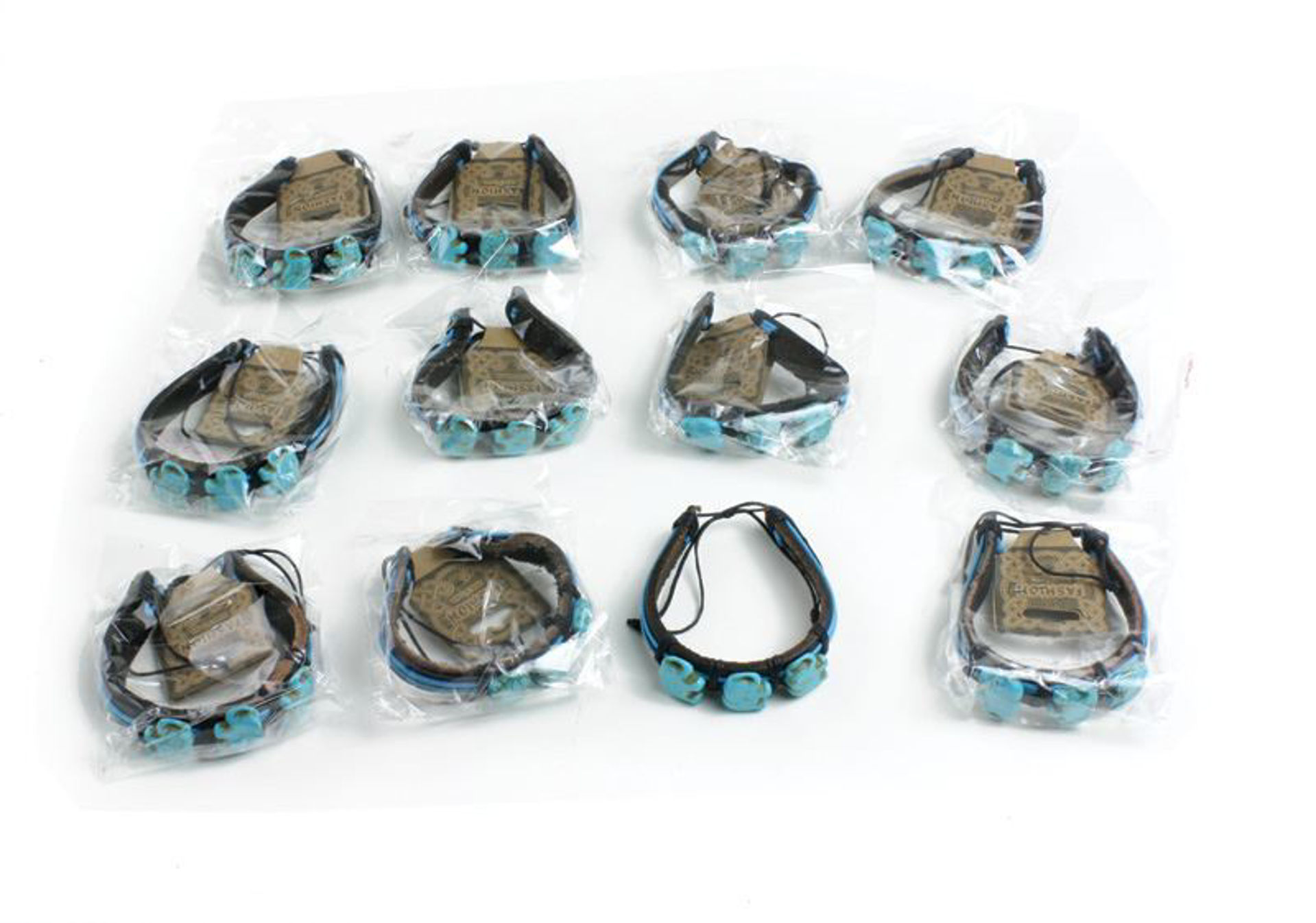Picture of Set Of 12 Turquoise Elephant Bracelets