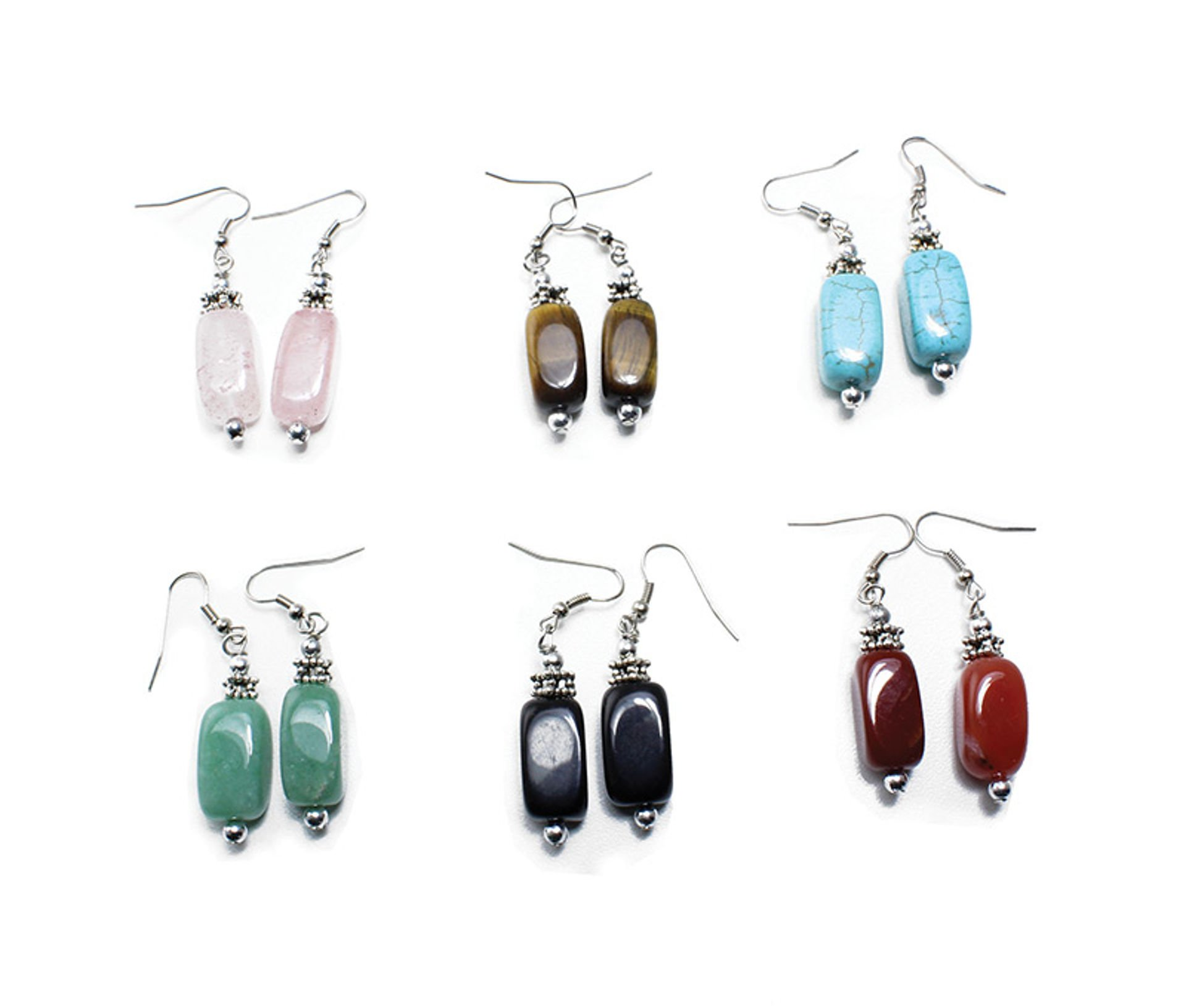Picture of Set Of 6 Agate Earrings