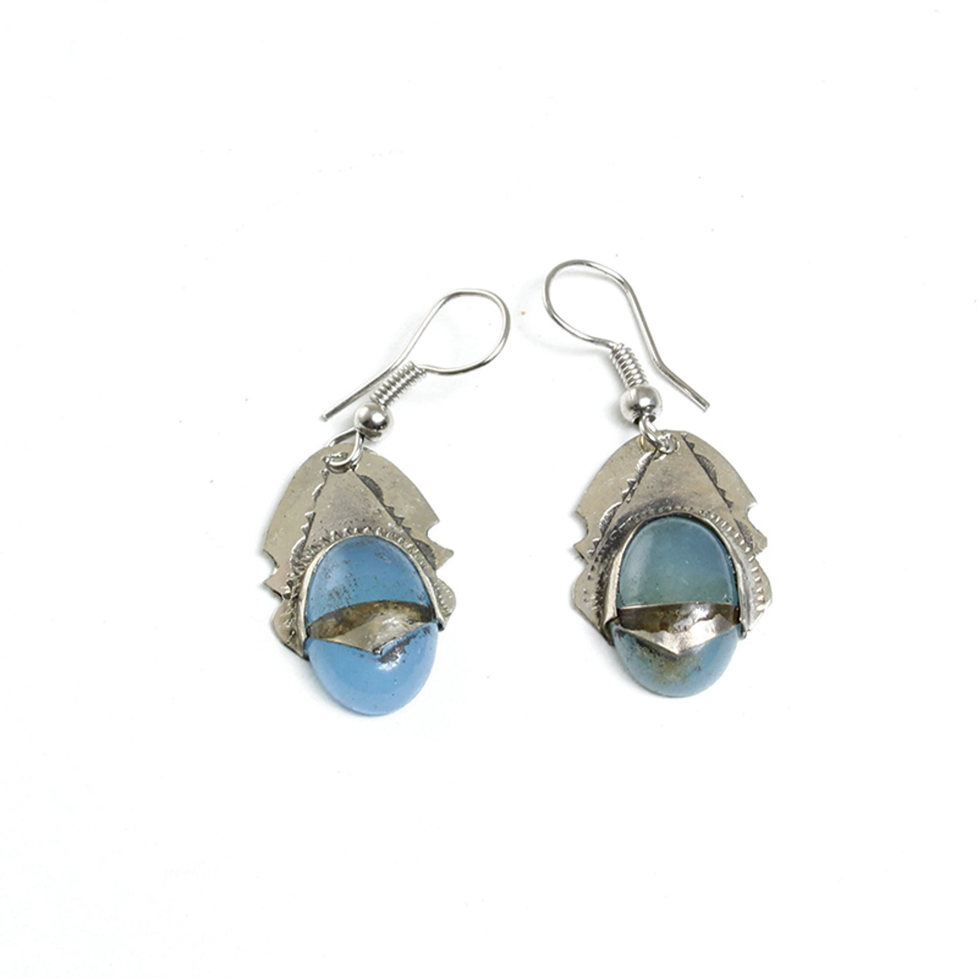 Picture of Tuareg Earrings with Blue Gem