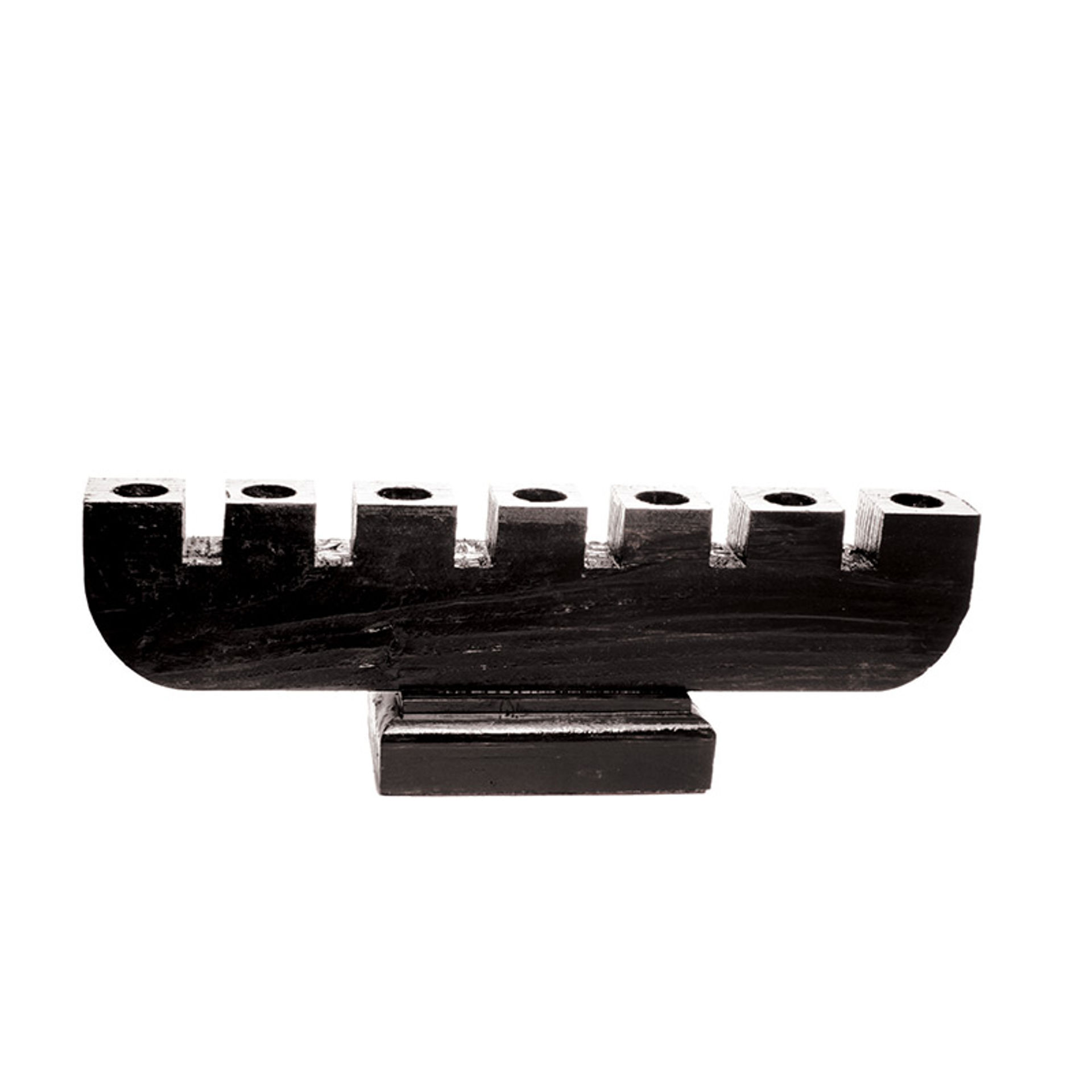 Picture of Handmade Large Wooden Kinara - Black