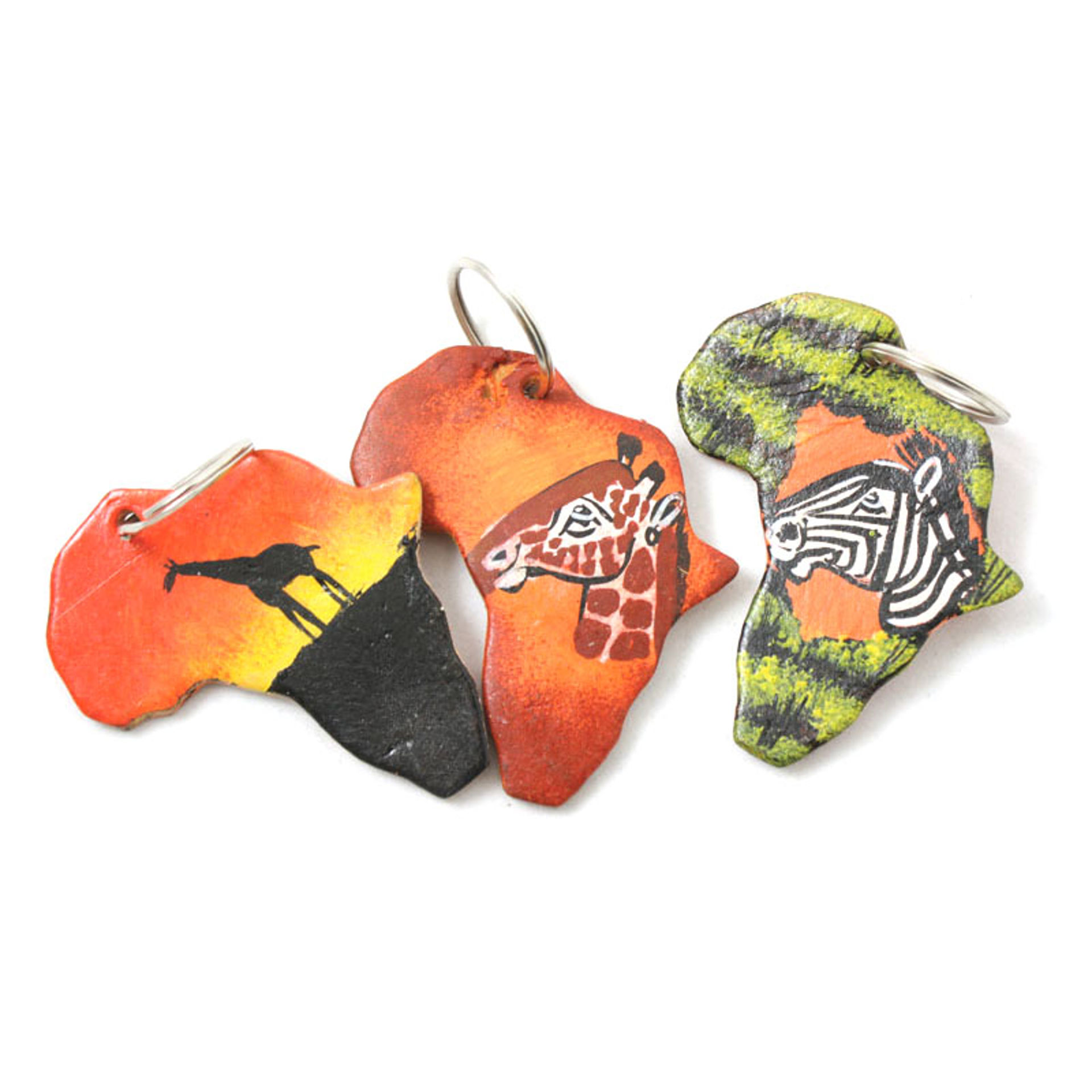 Picture of Leather African Safari Key Chain
