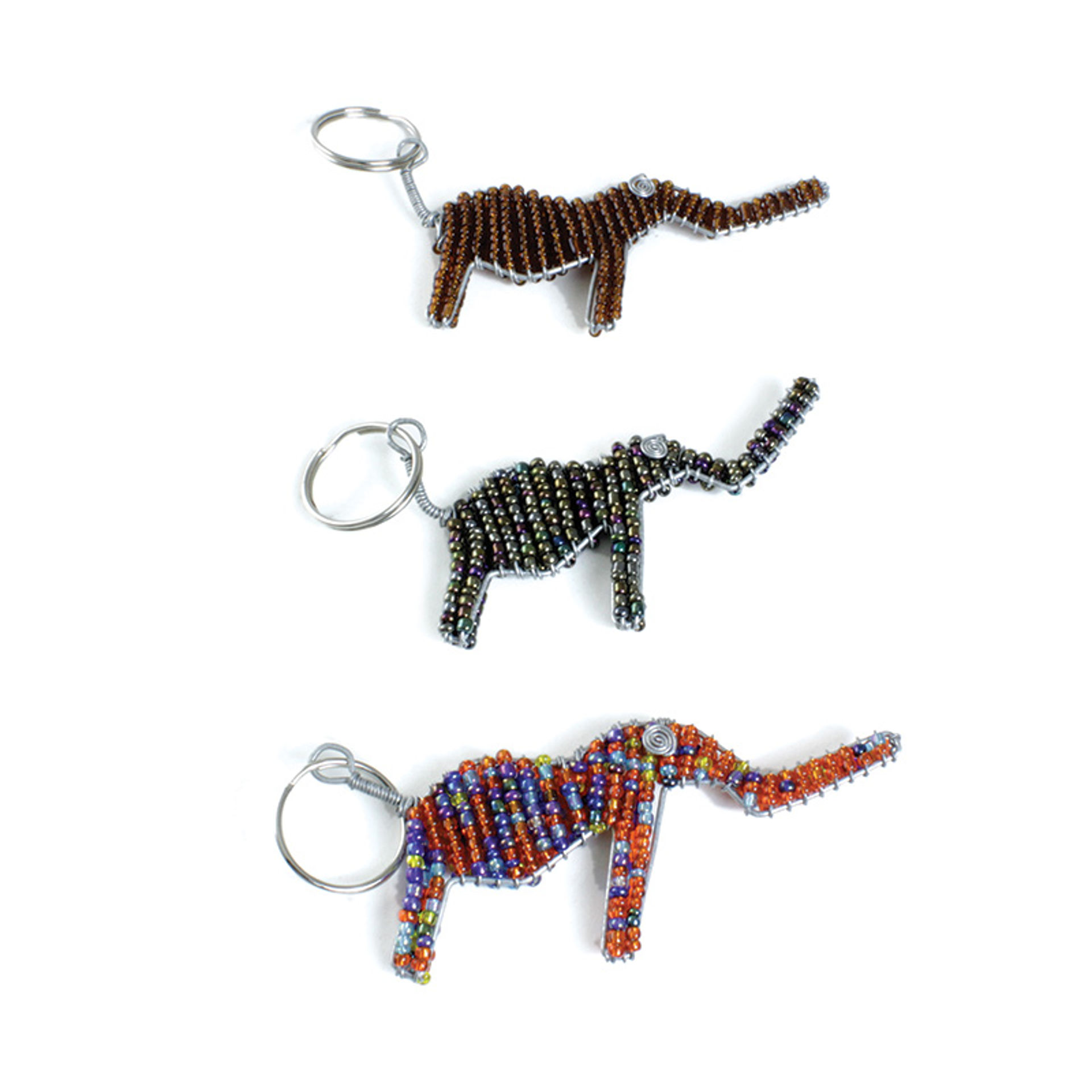Picture of Beaded Metal Key Chain - Elephant