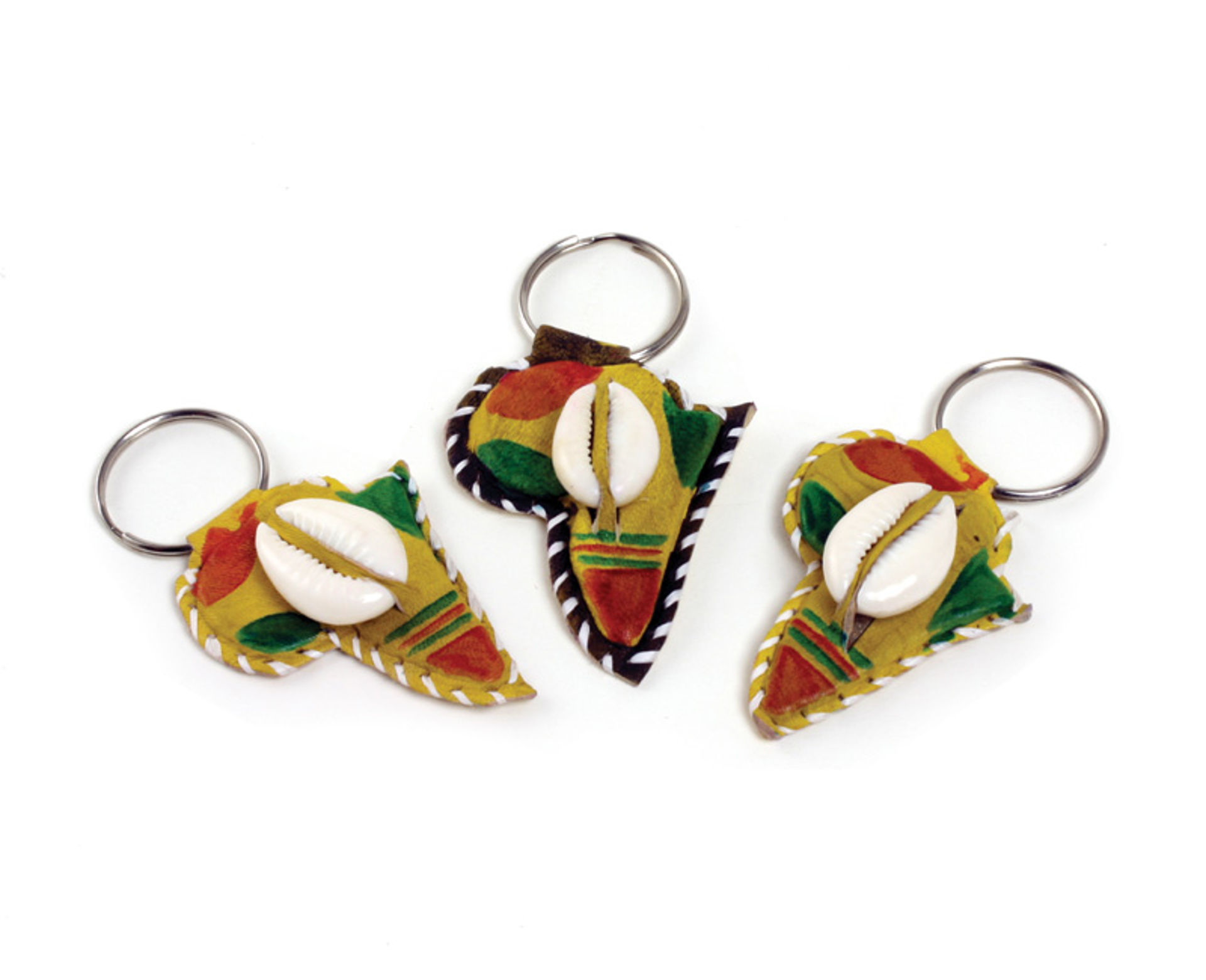 Picture of Africa Key Chain w/Cowry - Traditional