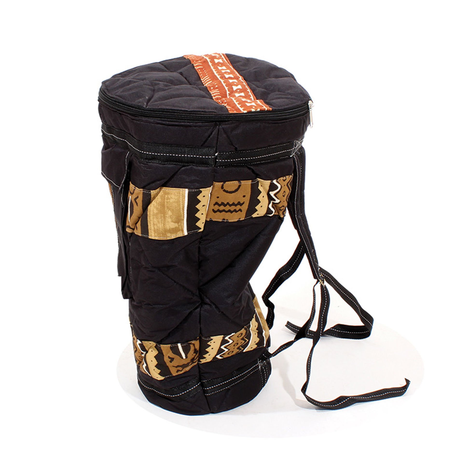 Picture of Mud Cloth & Canvas D'Jembe Drum Bag
