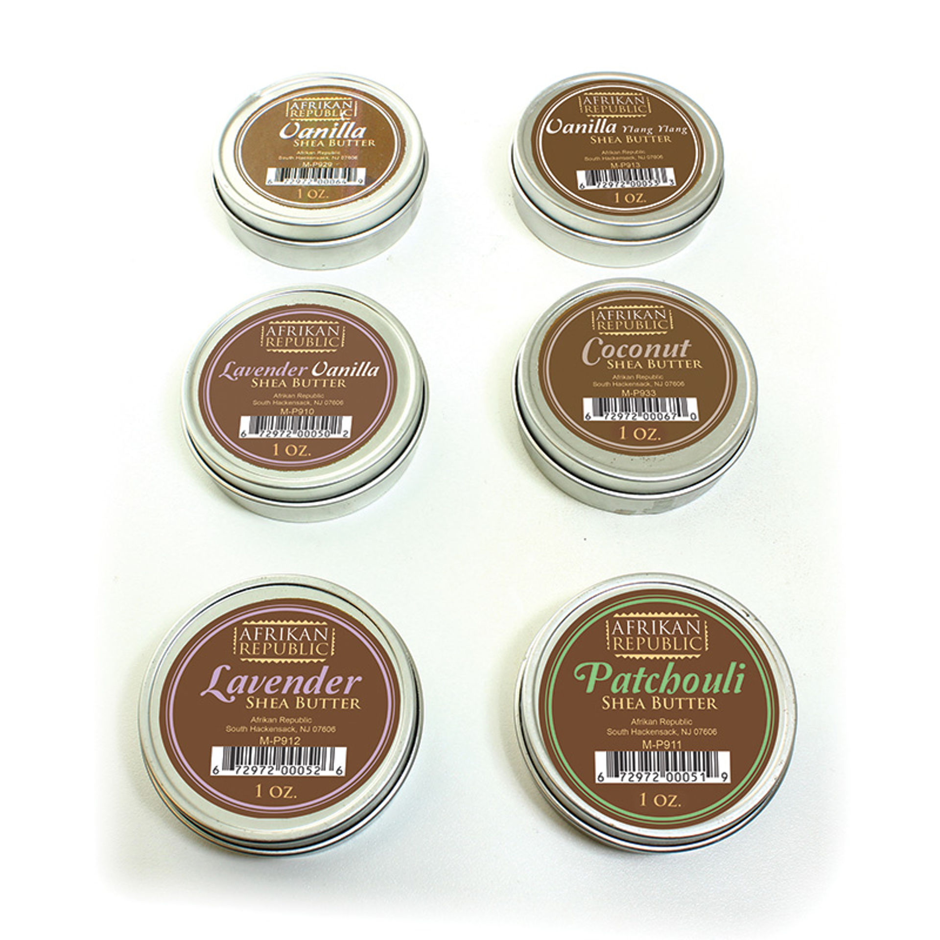 Picture of Set Of 6 Afrikan Republic Shea Butters
