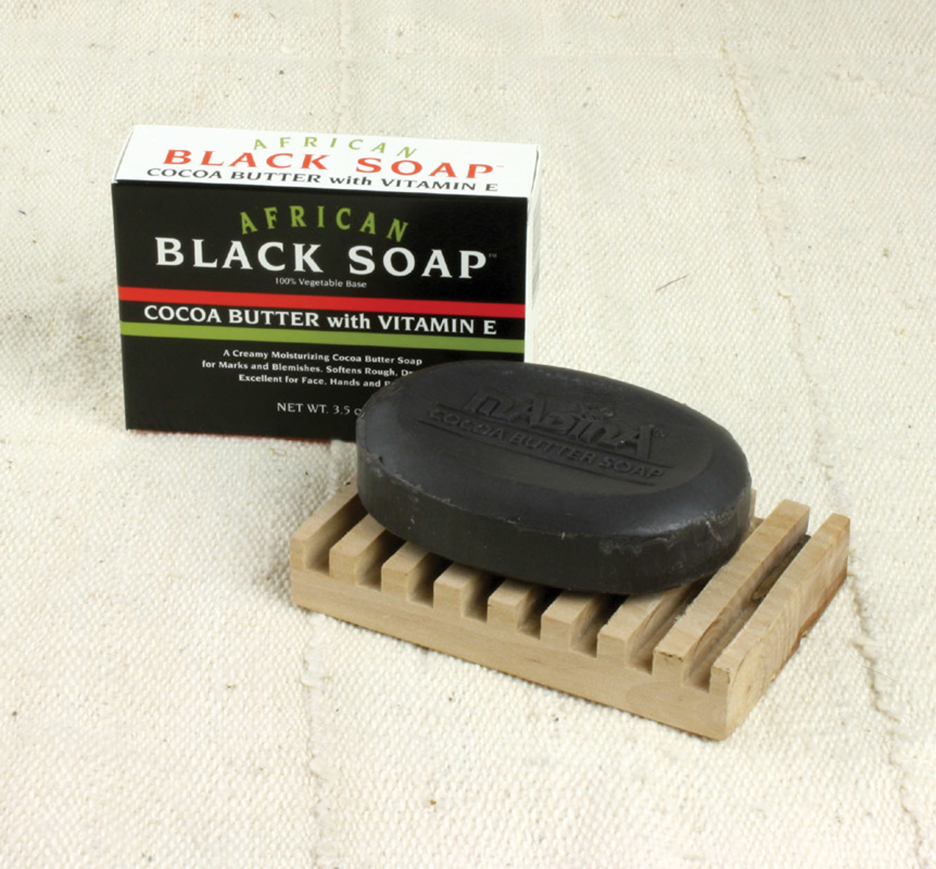 Picture of African Cocoa Butter Black Soap - 3½ oz.