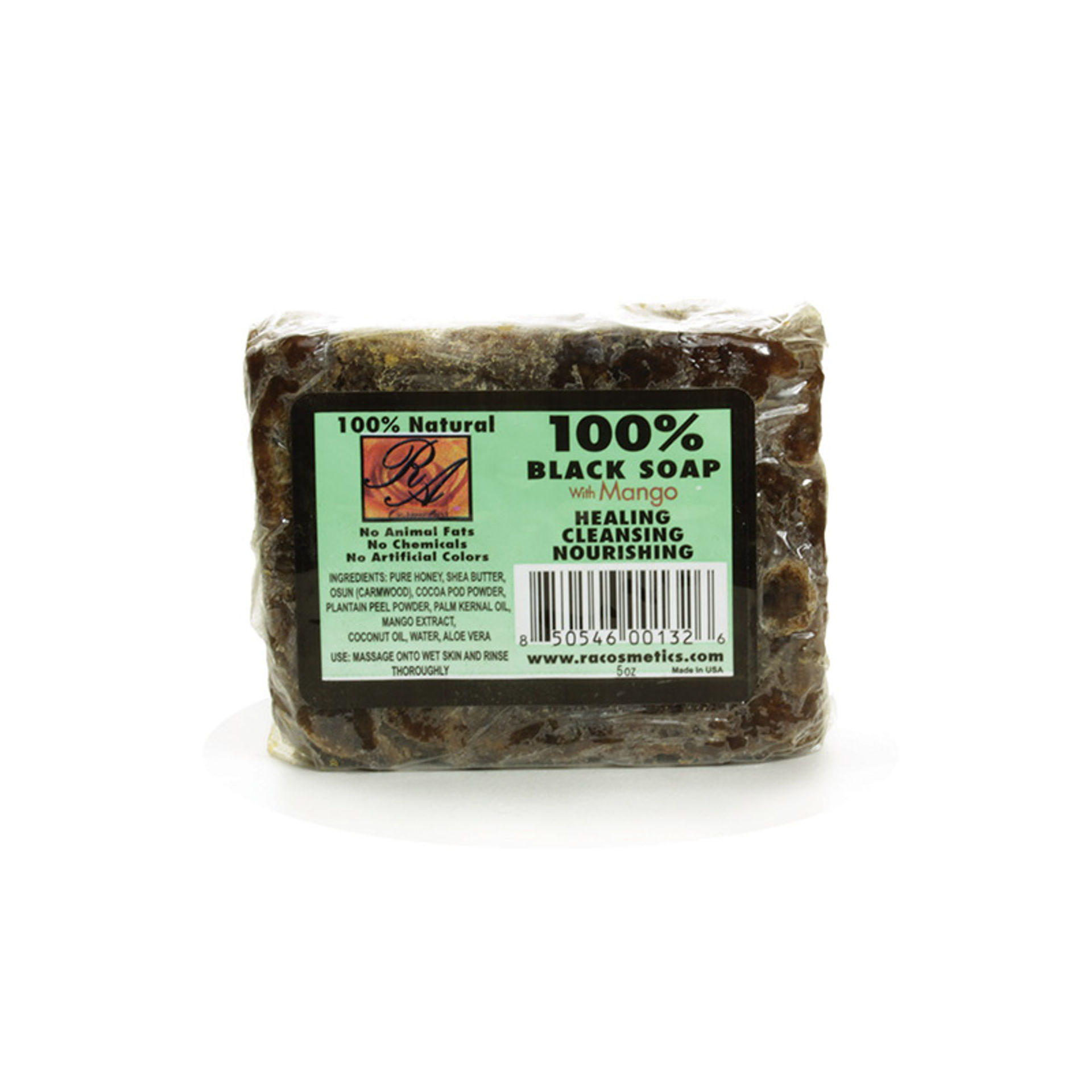 Picture of Natural Black Soap: Mango