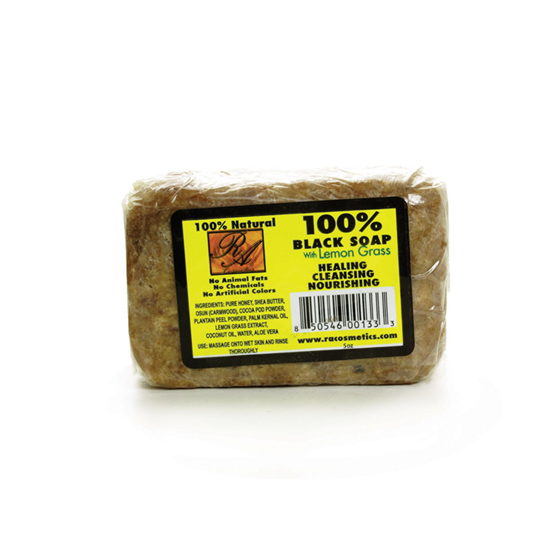 Picture of Natural Black Soap: Lemongrass