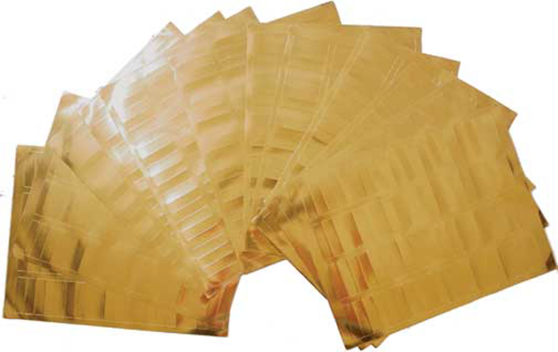 "Picture of 10 Sheets Of GOLD Labels - ½"" x 1¾"""