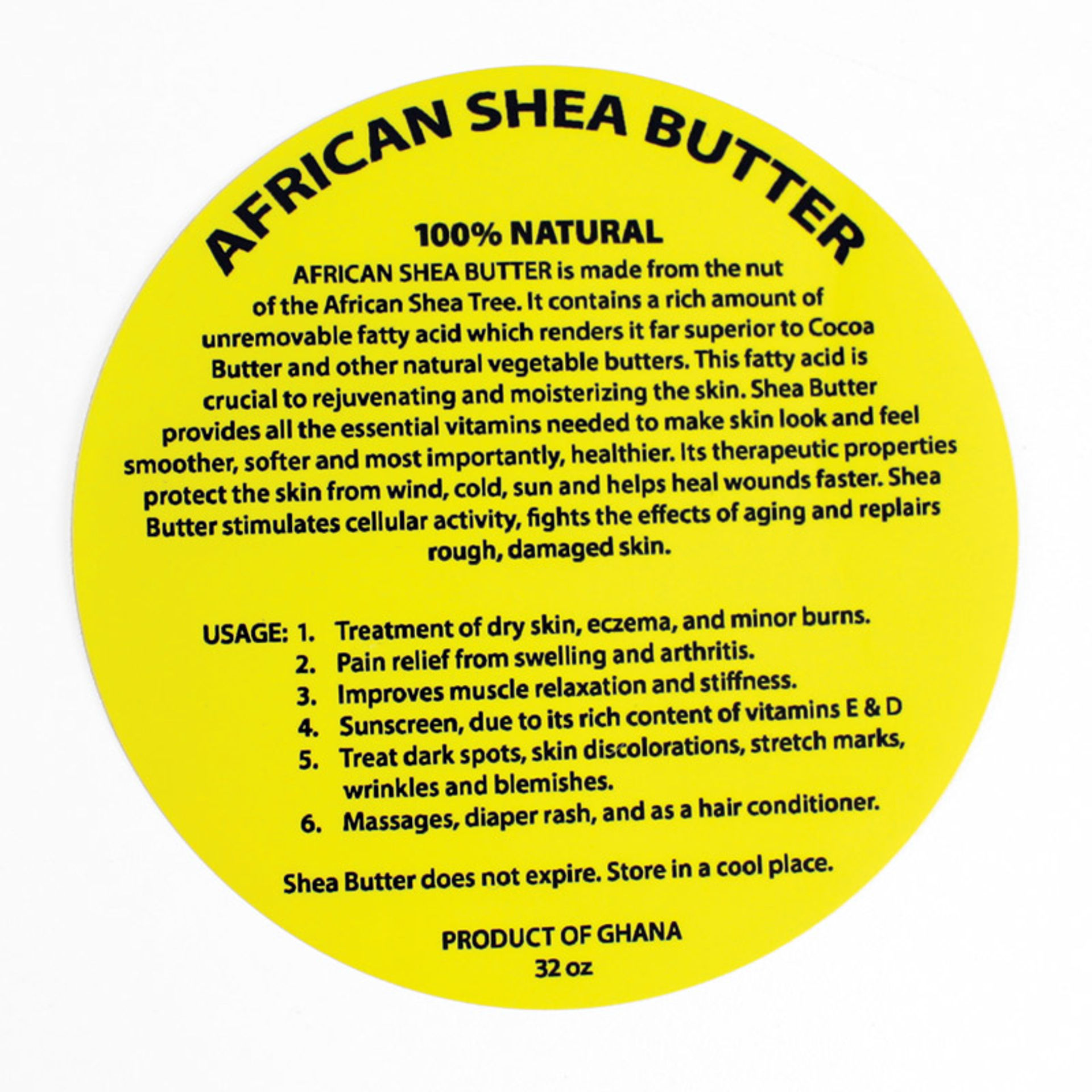 Picture of 32 oz. Shea Butter Labels: Set Of 12