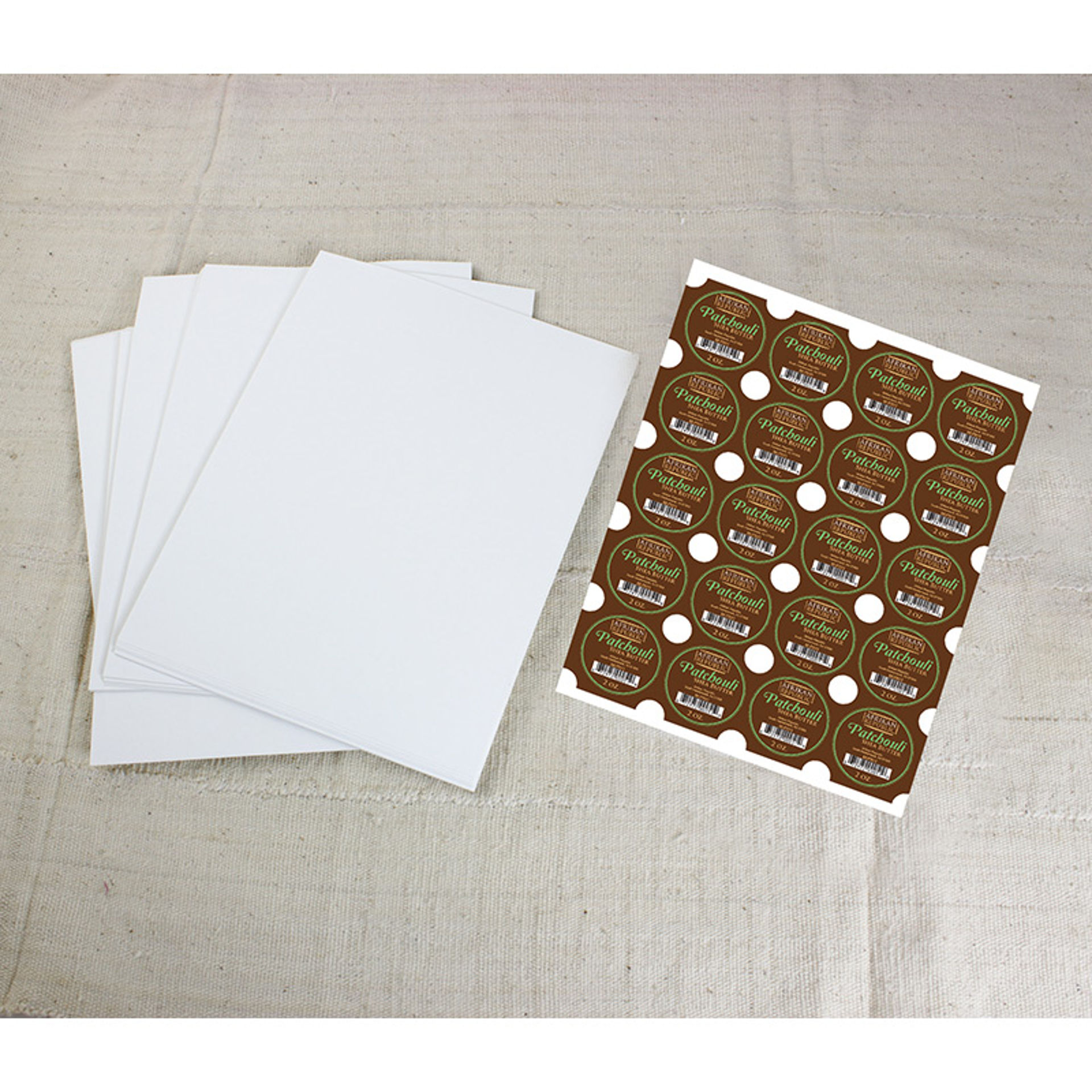 """Picture of 100 2"""" White Glossy Circle Labels"""