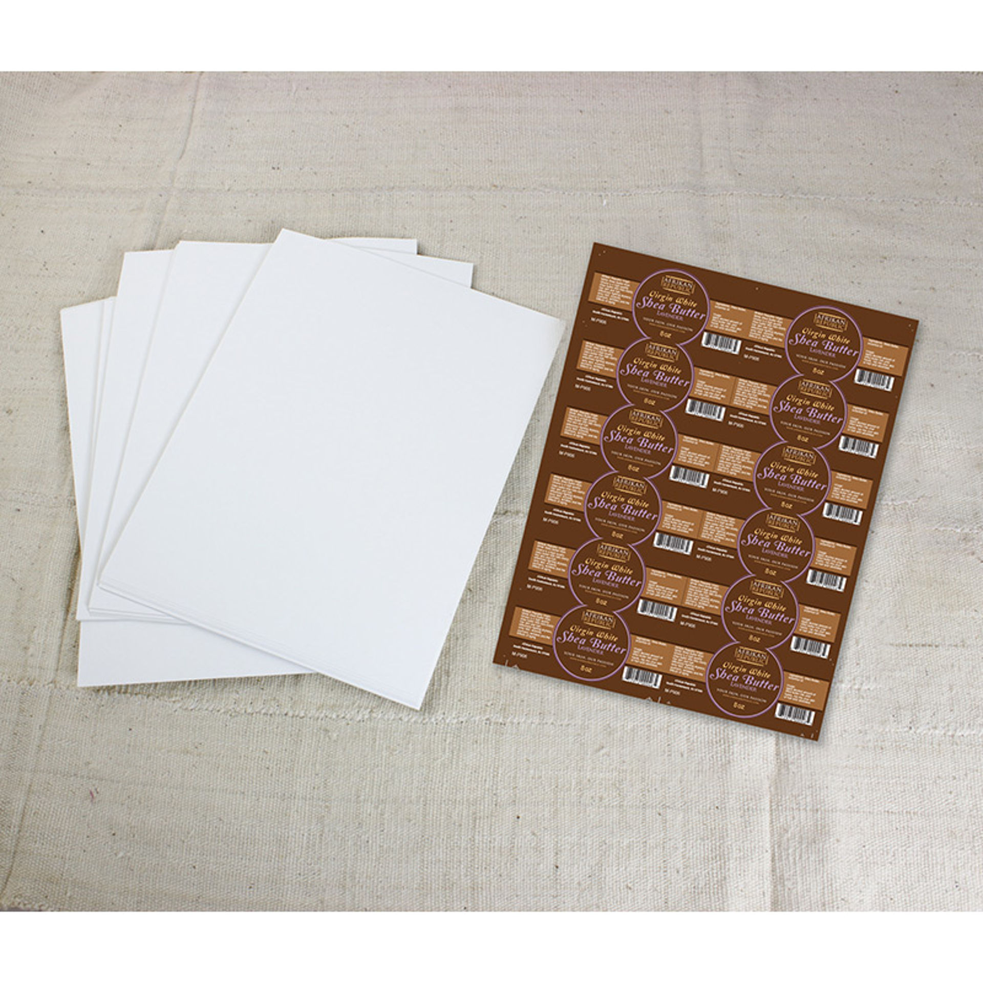 """Picture of 60 4""""x1¾"""" Glossy Rectangle Labels"""