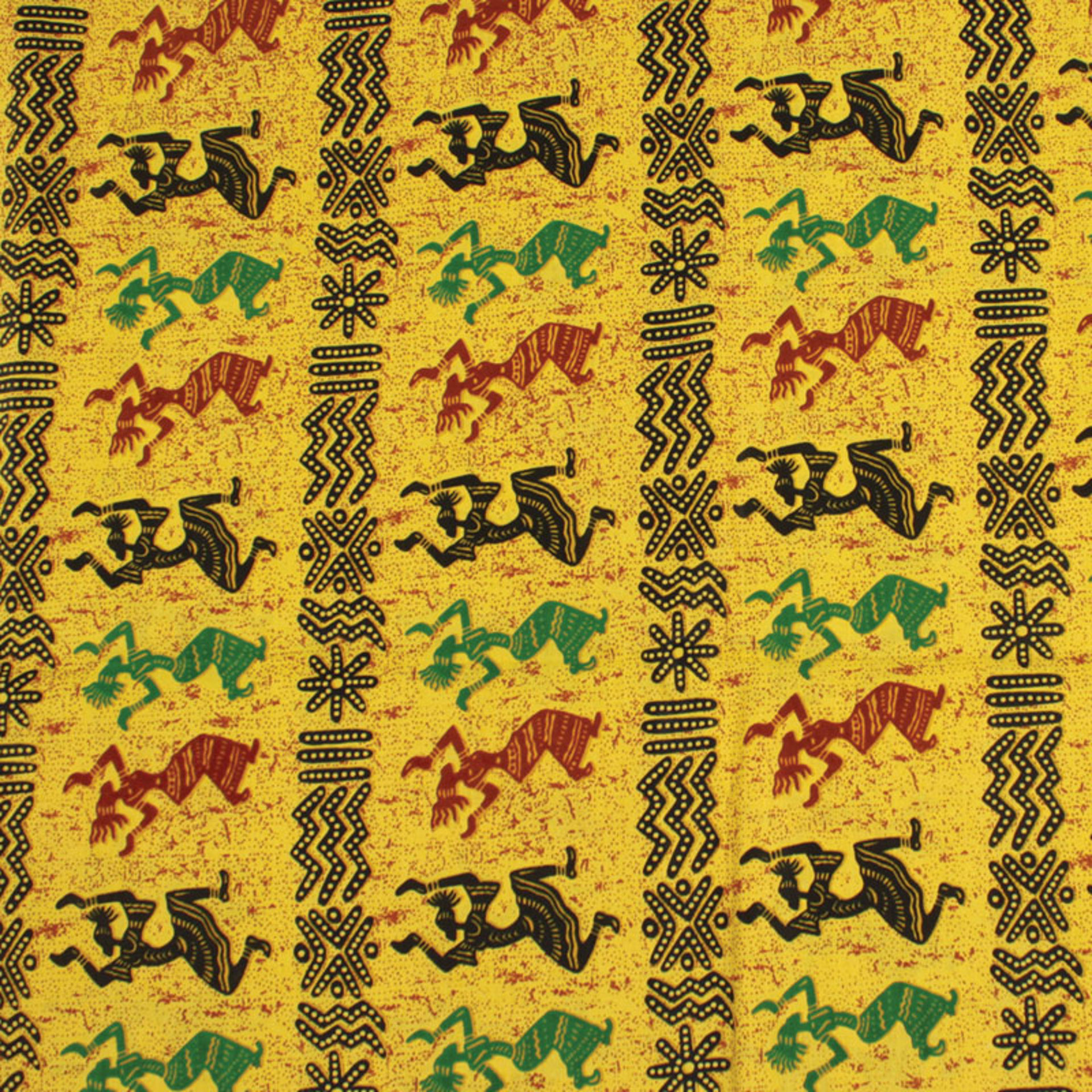 Picture of Afrocentric Dancers Fabric: 12 Yards