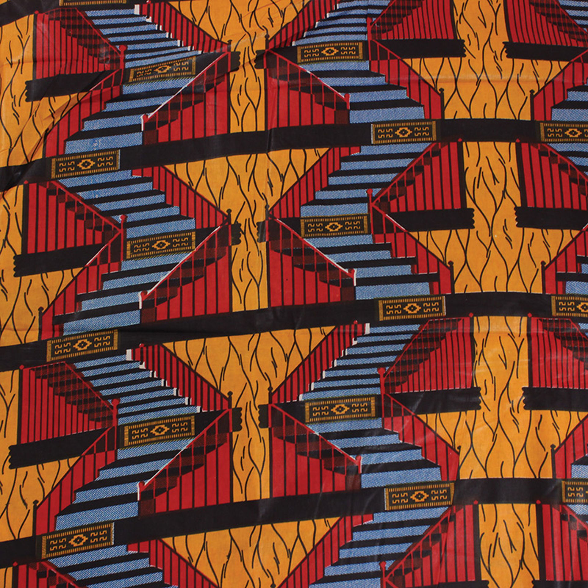 Picture of Economy Fabric:  Step Pattern - 12 Yds