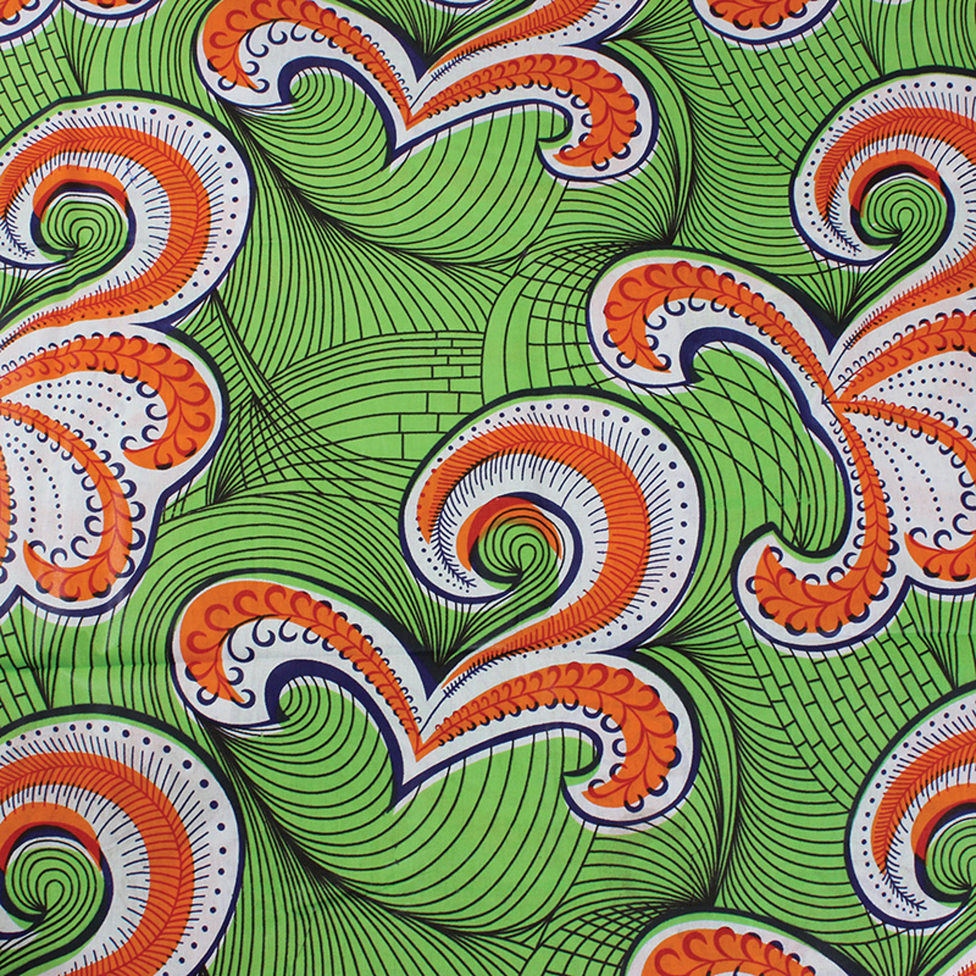Picture of Economy Fabric: Green Paisley - 12 Yds