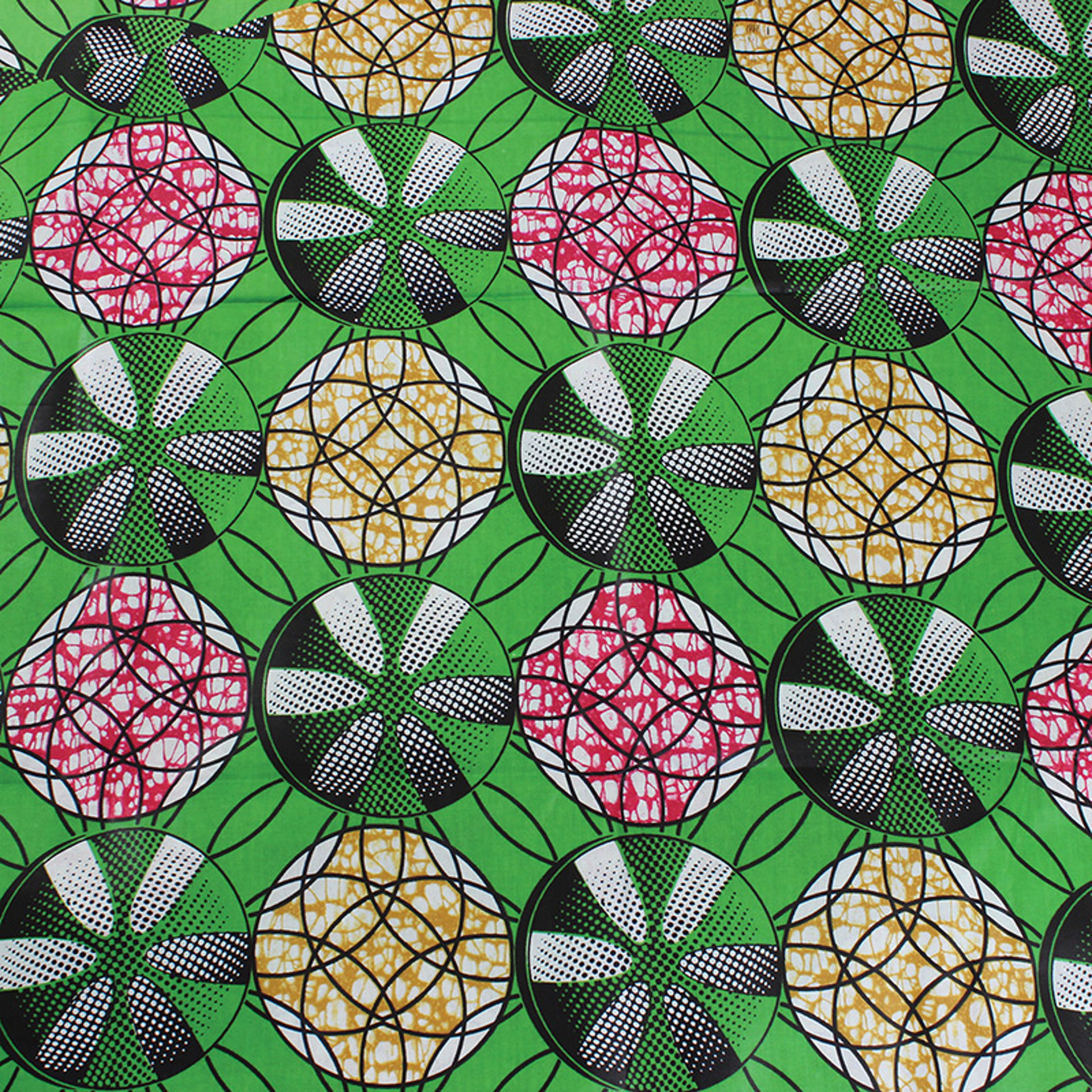 Picture of Economy Fabric: Lime Print - 12 Yds