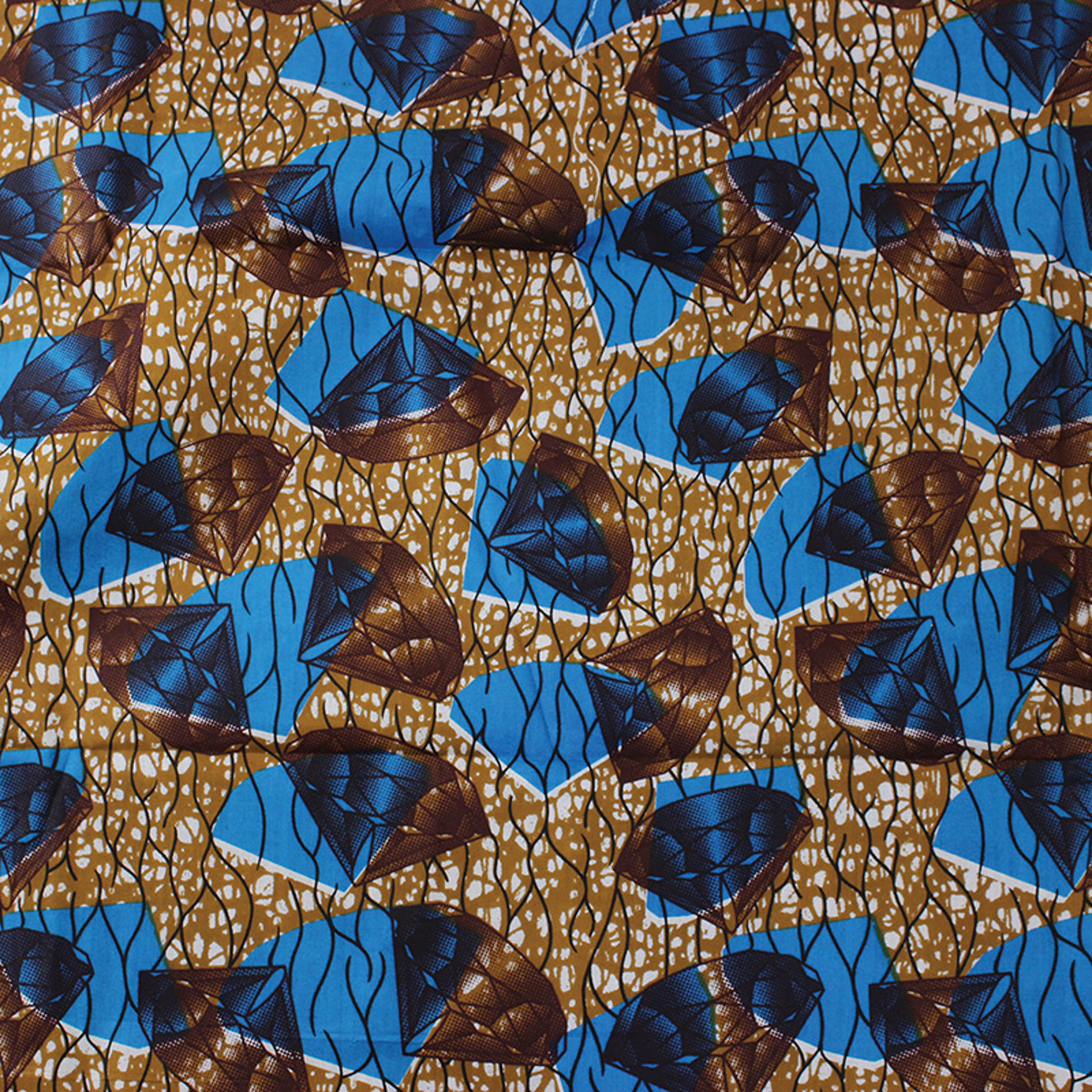Picture of Economy Fabric: Brown/Blue - 12 Yds