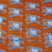 Picture of Economy Fabric: Orange/Blue - 12 Yds
