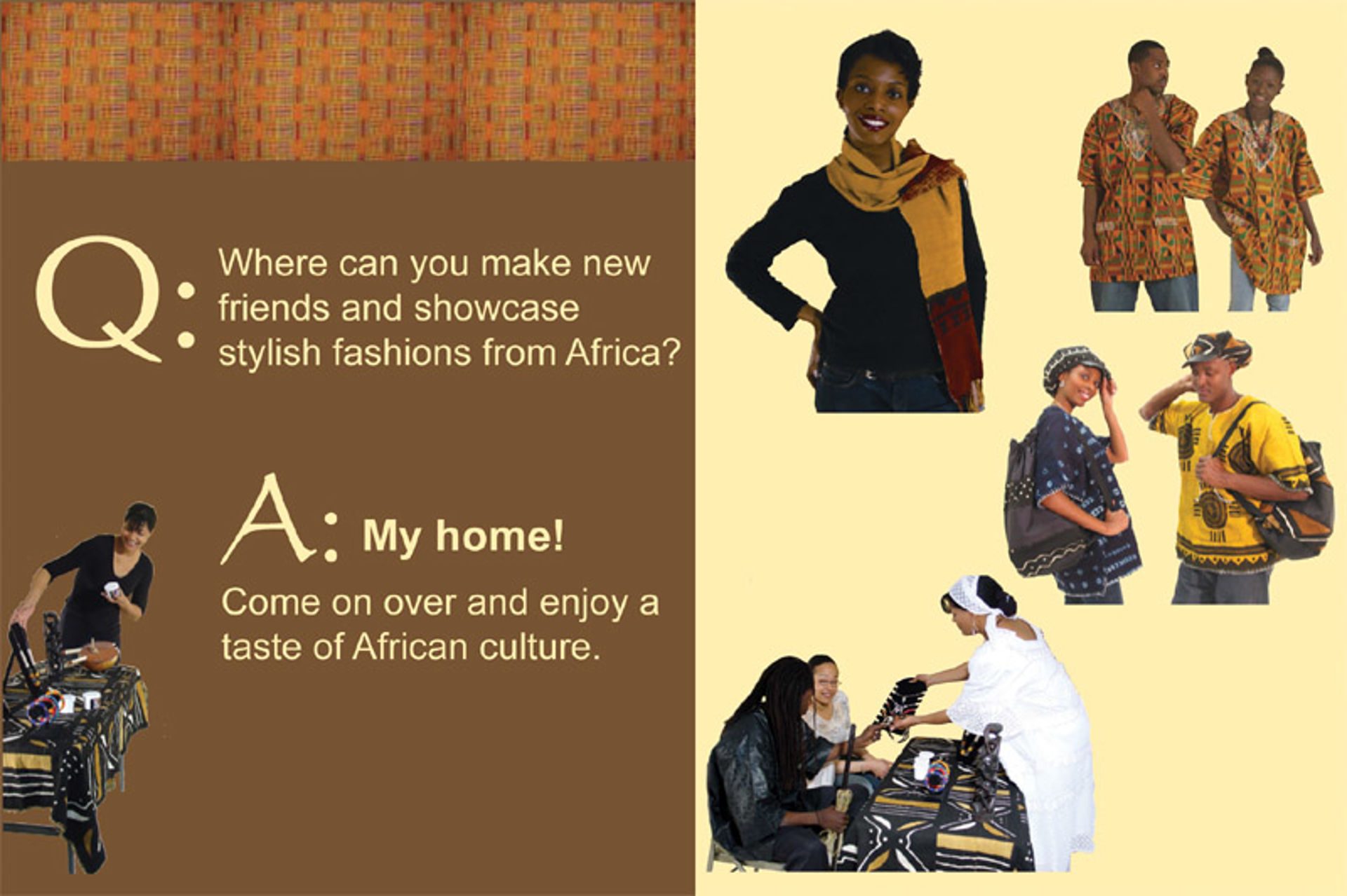Picture of African Home Party Postcards: Pack Of 20