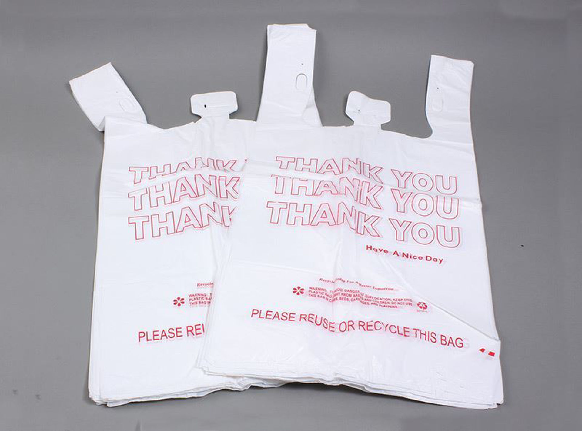 """Picture of 100 High Quality """"Thank You"""" Bags 15in."""